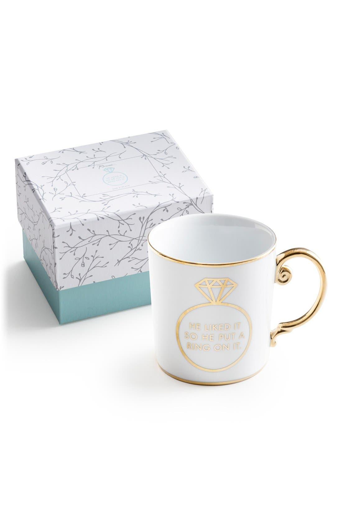 Main Image - Rosanna 'He Liked It so He Put a Ring on It' Porcelain Coffee Mug