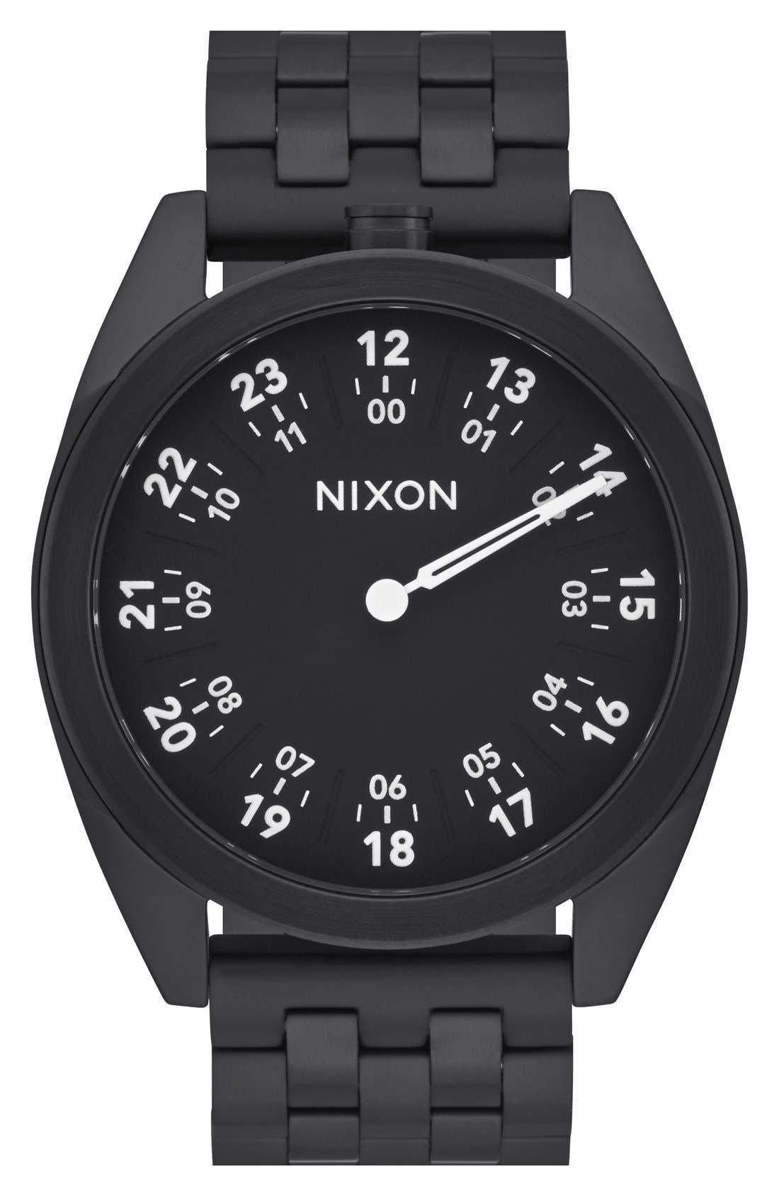 Nixon 'Genesis' One-Hand Bracelet Watch, 43mm