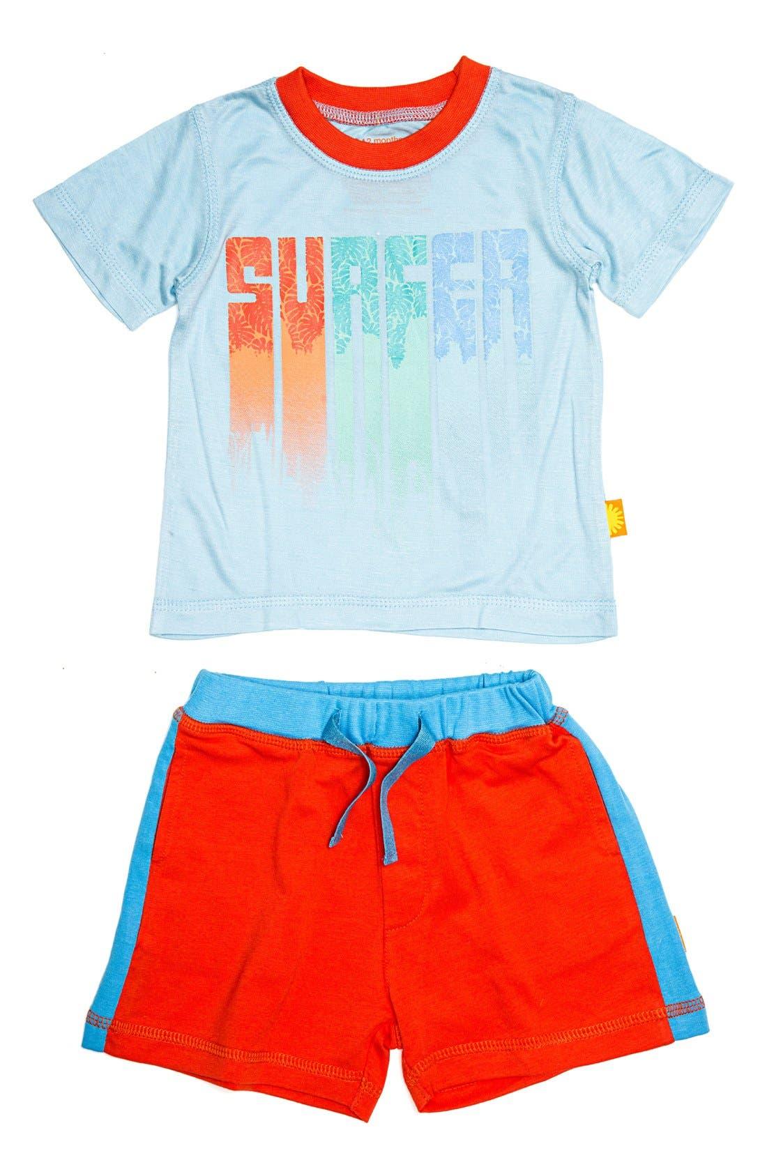 Masala Baby 'Surfer' T-Shirt & Shorts Set (Baby Boys)