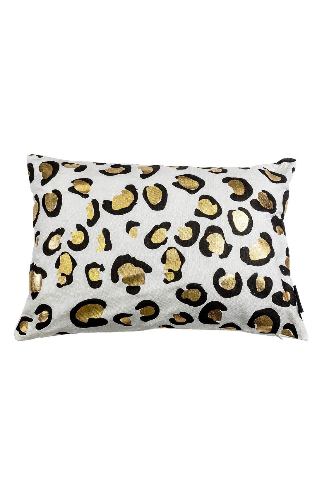 Metallic Animal Print Pillow,                         Main,                         color, White/ Gold Multi