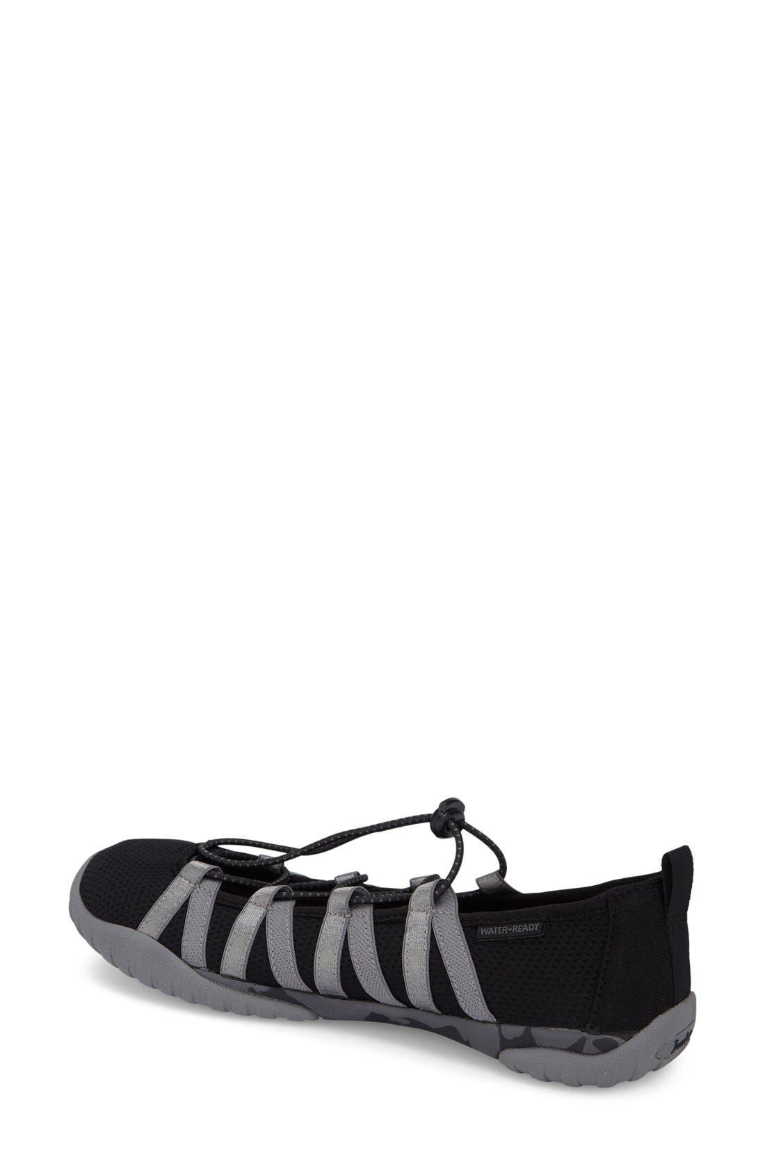 'Manuka' Water Friendly Slip-On Sneaker,                             Alternate thumbnail 2, color,                             Black Fabric