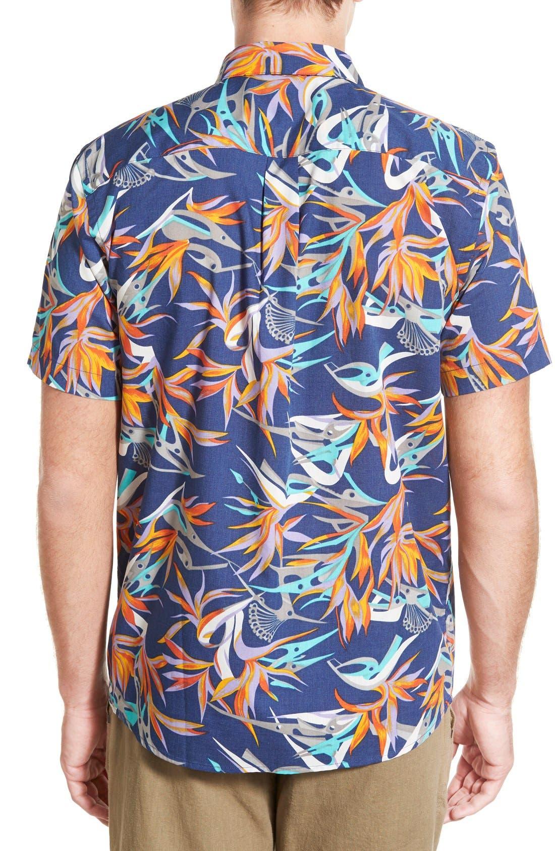 'Go To' Slim Fit Short Sleeve Sport Shirt,                             Alternate thumbnail 2, color,                             Piton Paradise/ Channel Blue