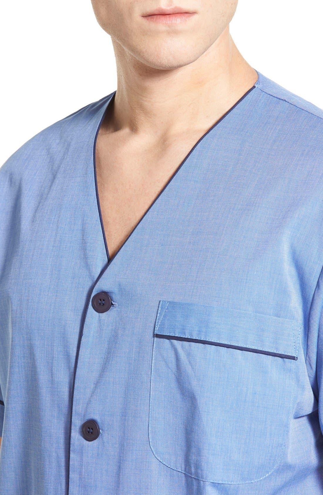 Cotton Blend Pajamas,                             Alternate thumbnail 4, color,                             Blue