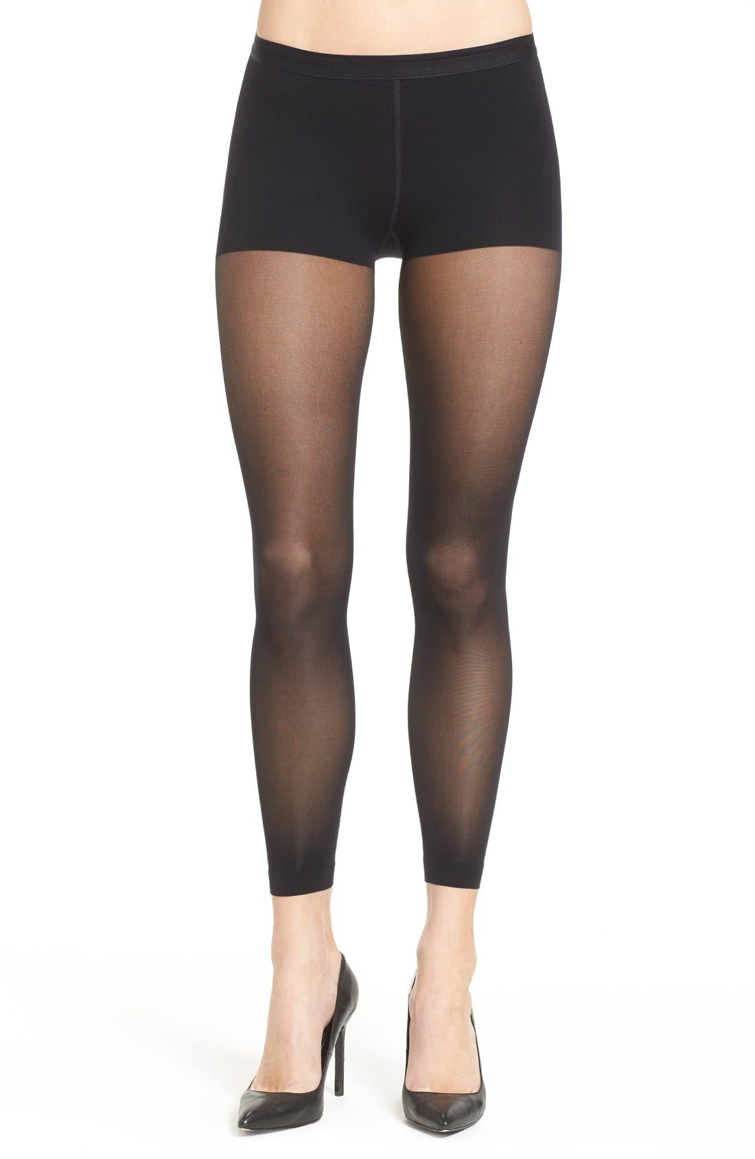 ITEM M6 Sheer Footless Tights in Black