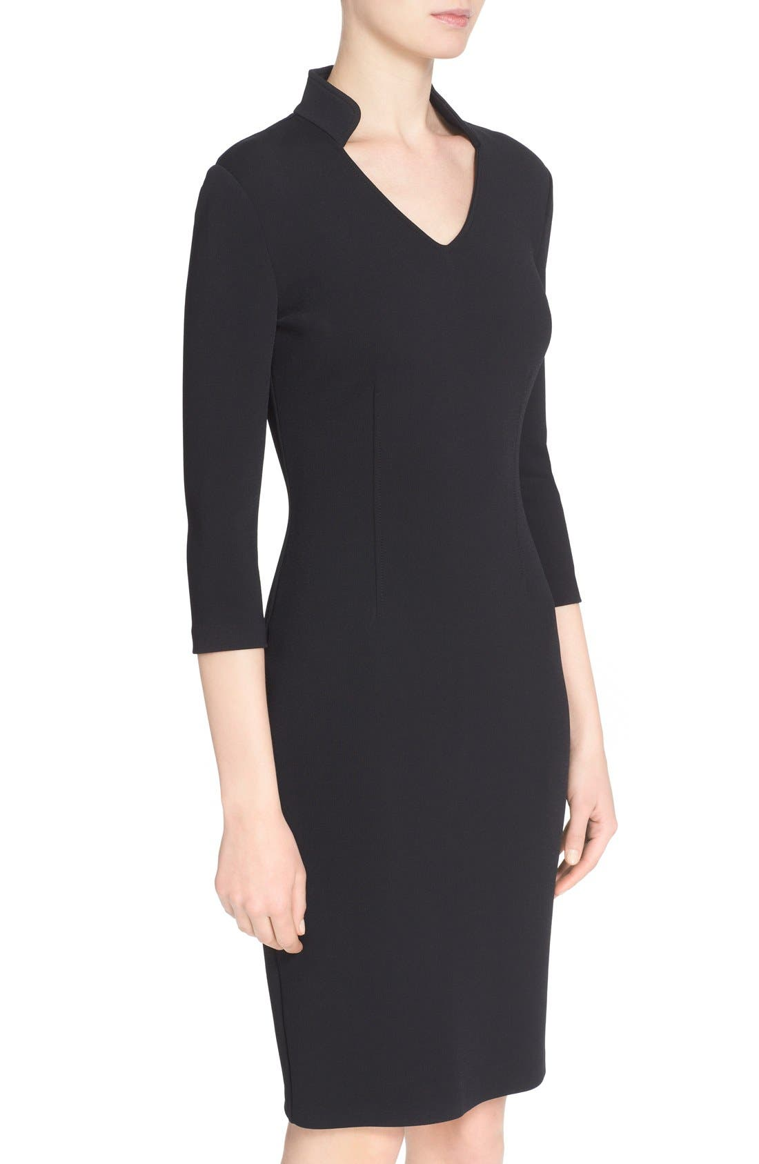 Alternate Image 6  - St. John Collection Luxe Sculpture Knit Sheath Dress