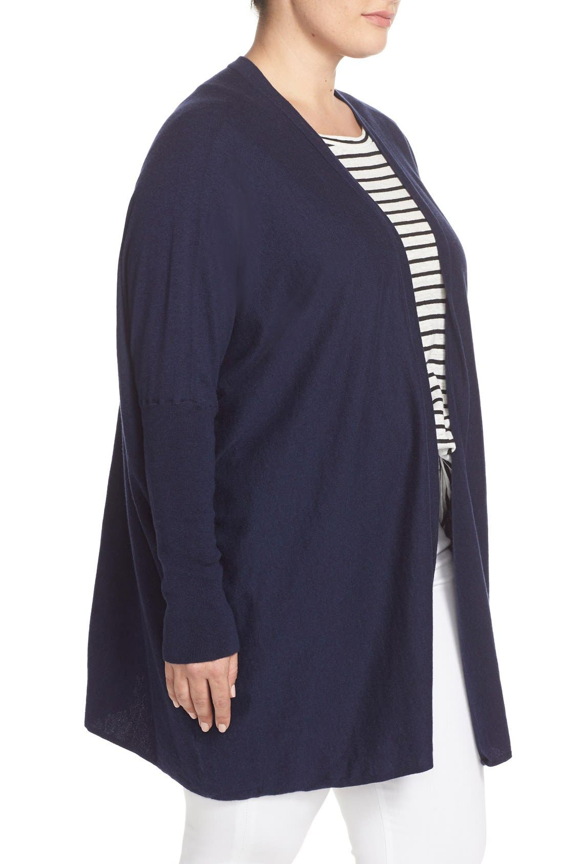 'Darma' Cotton & Cashmere Knit Cardigan,                             Alternate thumbnail 3, color,                             Melange Navy