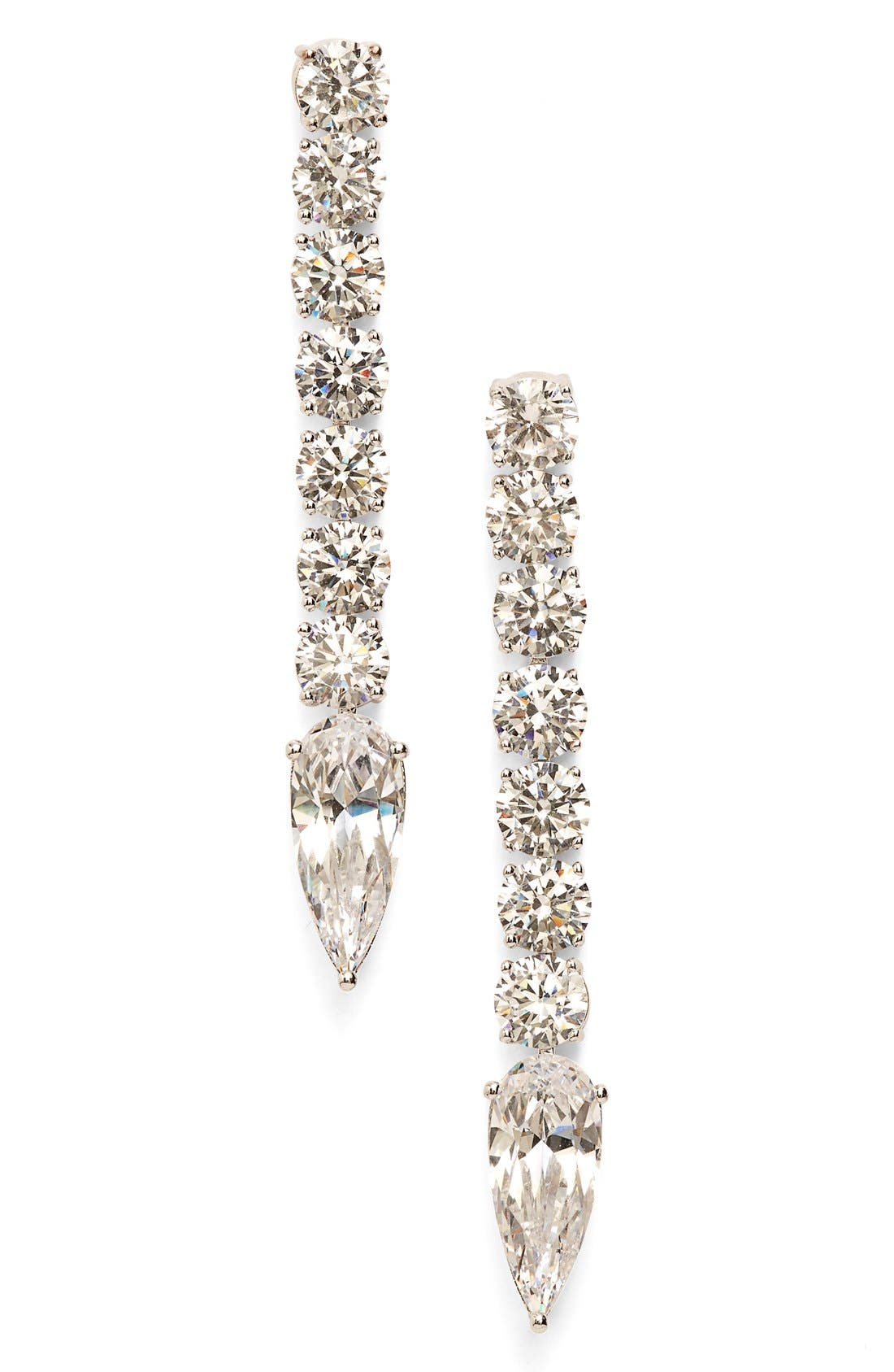 Alternate Image 1 Selected - Nadri Crystal Linear Drop Earrings