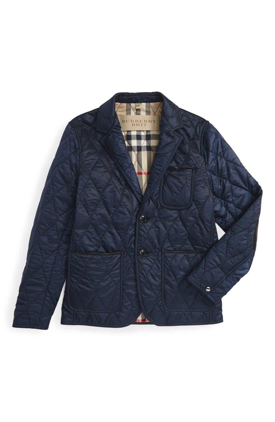 Alternate Image 7  - Burberry Gillington Water Resistant Quilted Jacket