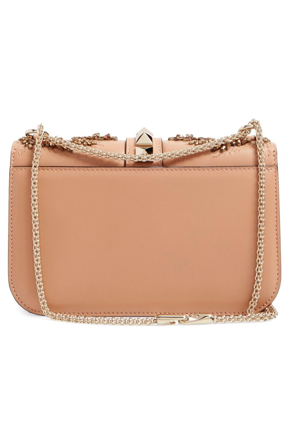 Alternate Image 3  - Valentino 'Rockstud Embellished - Medium Lock' Leather Shoulder Bag