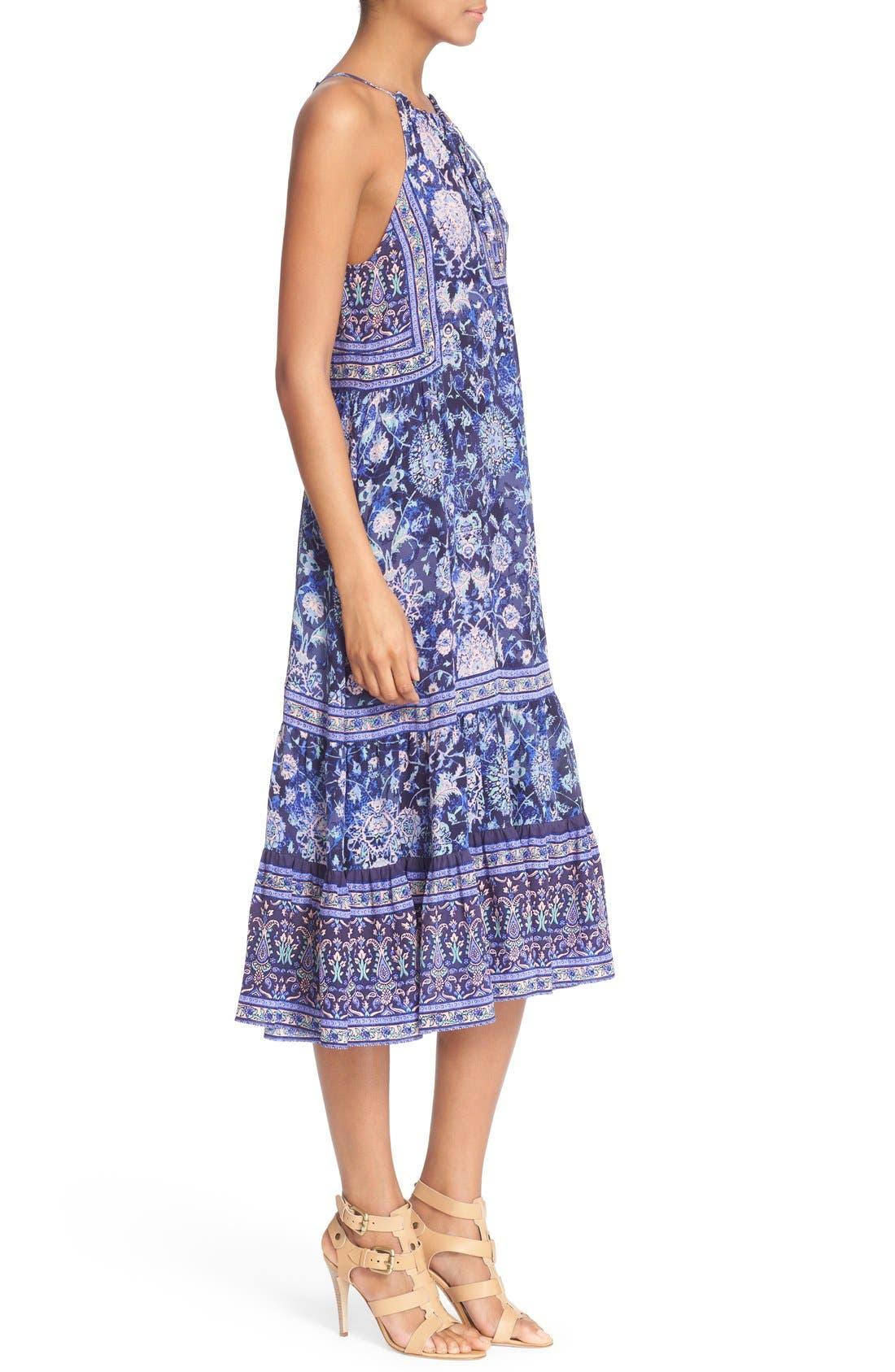 Alternate Image 3  - Rebecca Taylor 'Dreamweaver' Print Silk Midi Dress