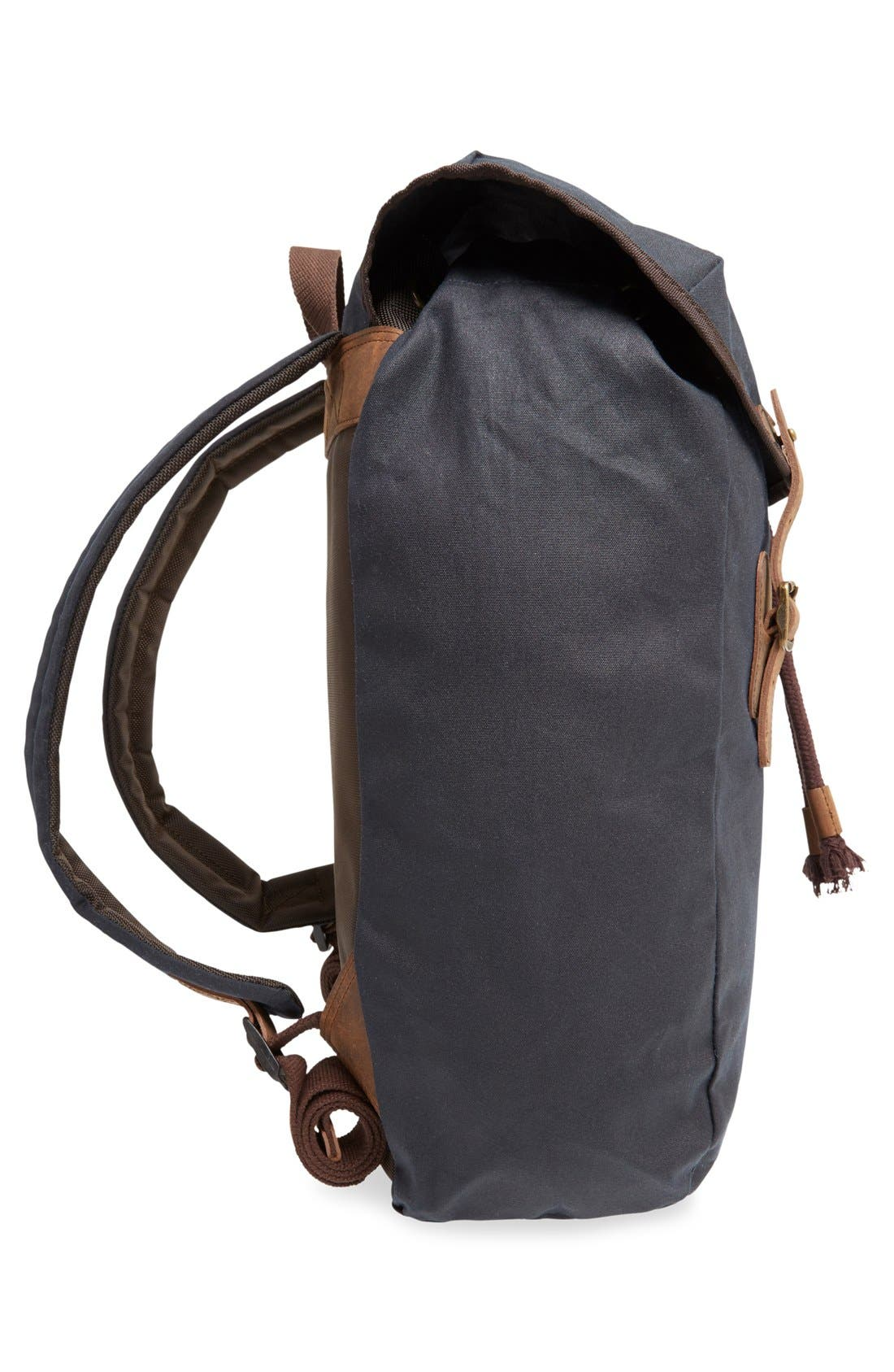 Alternate Image 4  - Barbour Waxed Canvas Backpack