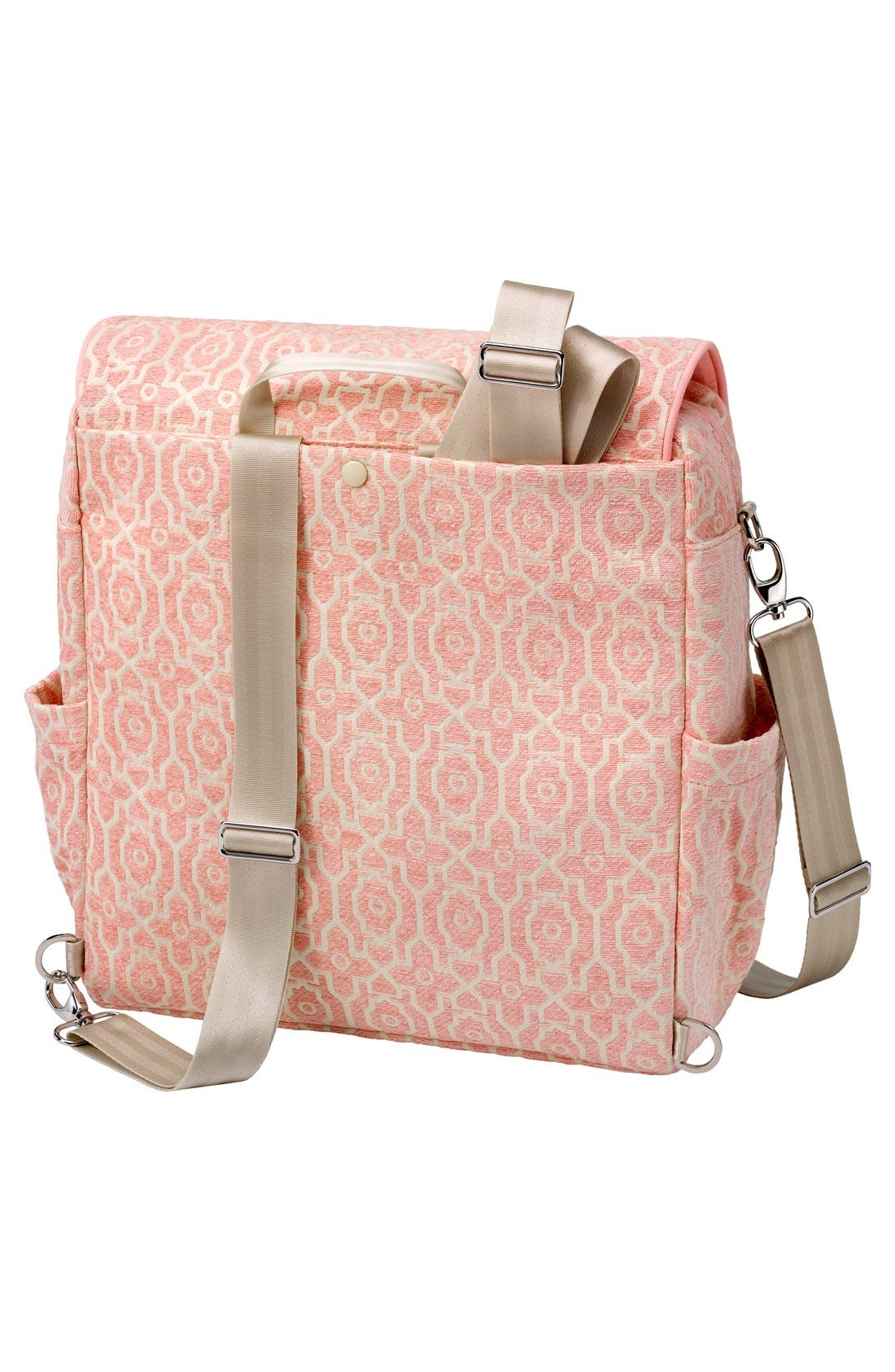 'Boxy' Chenille Convertible Diaper Backpack,                             Alternate thumbnail 2, color,                             Sweet Rose
