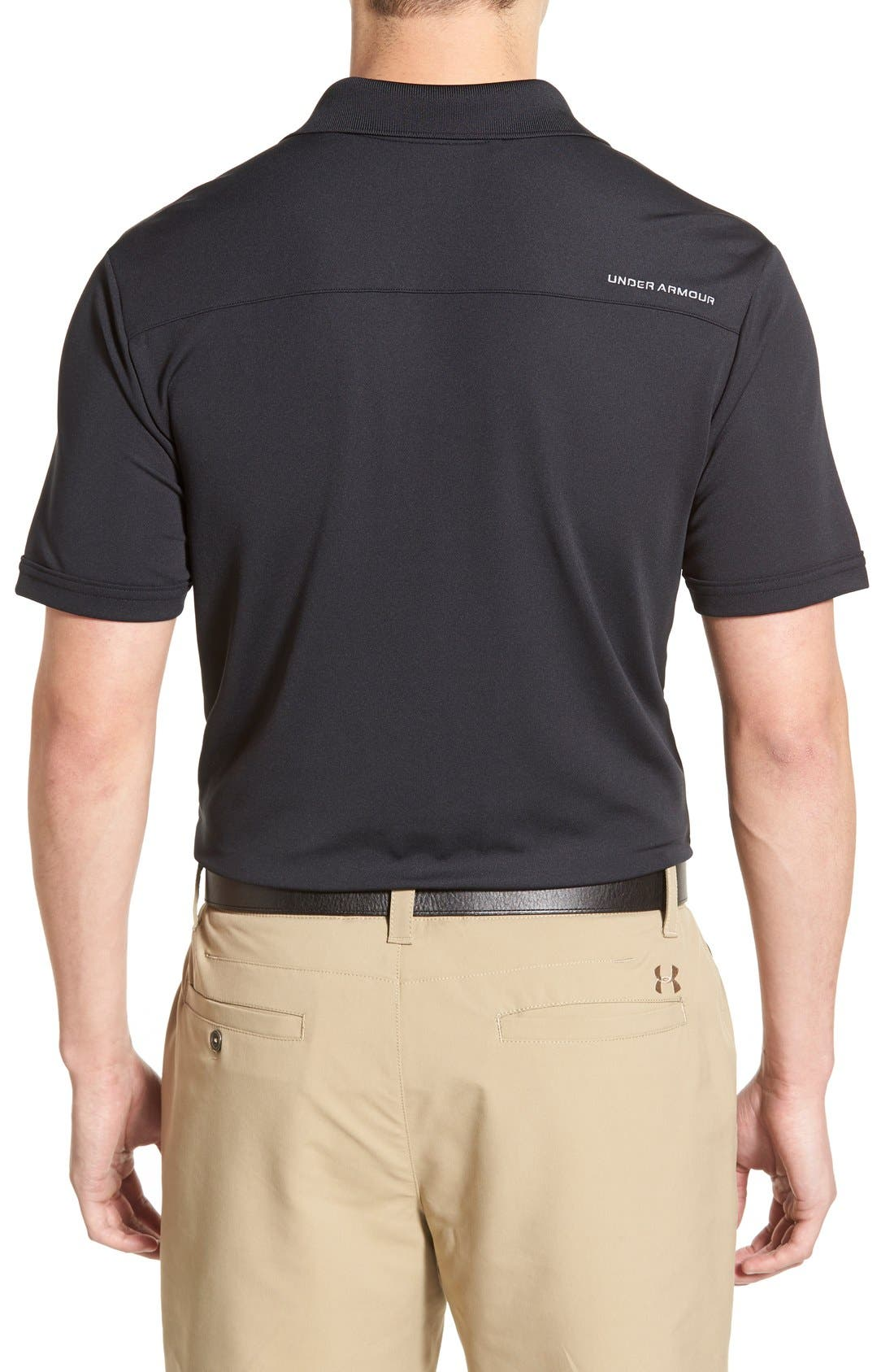 'Performance 2.0' Sweat Wicking Stretch Polo,                             Alternate thumbnail 2, color,                             Black