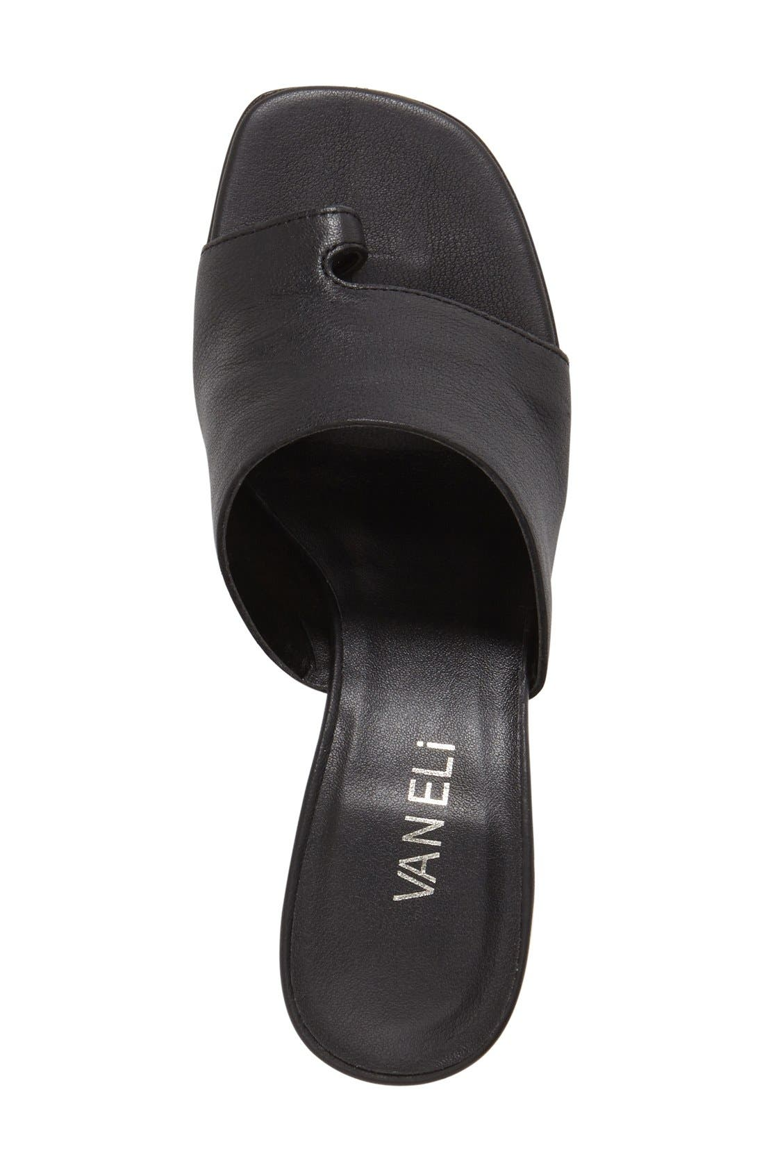'Melea' Slide Sandal,                             Alternate thumbnail 3, color,                             Black Sweta Calf