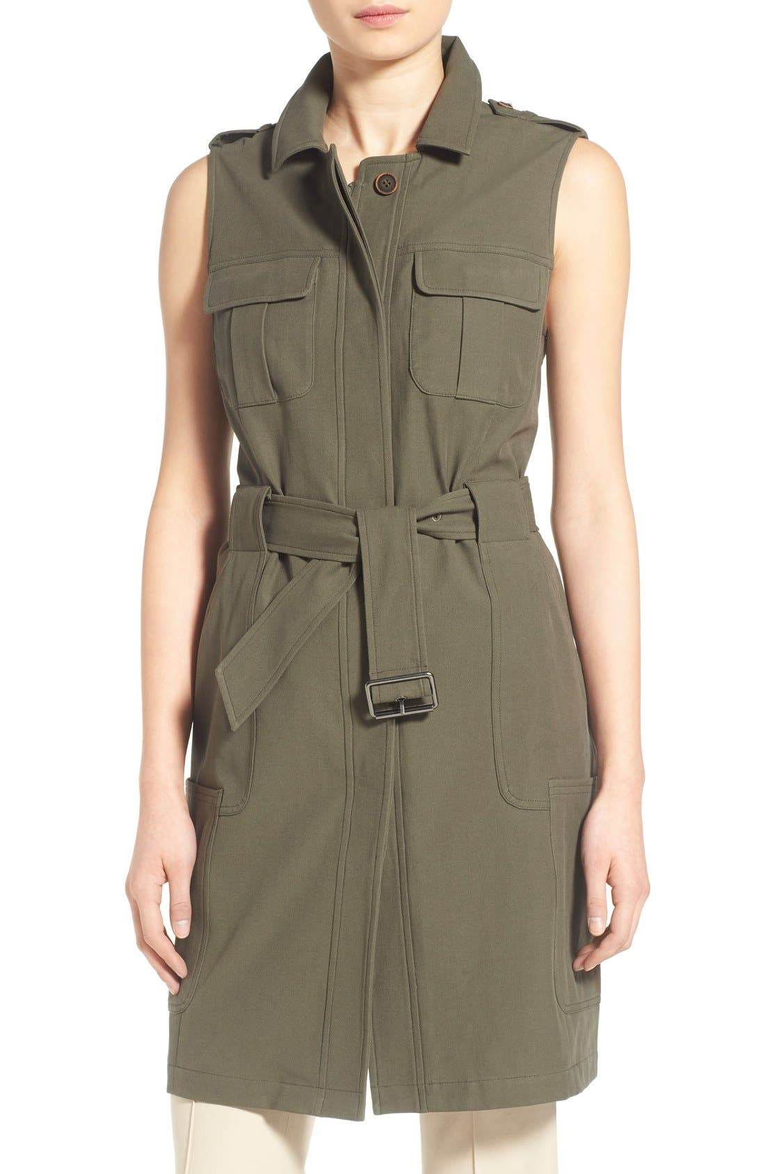 Main Image - Olivia Palermo + Chelsea28 Long Military Vest