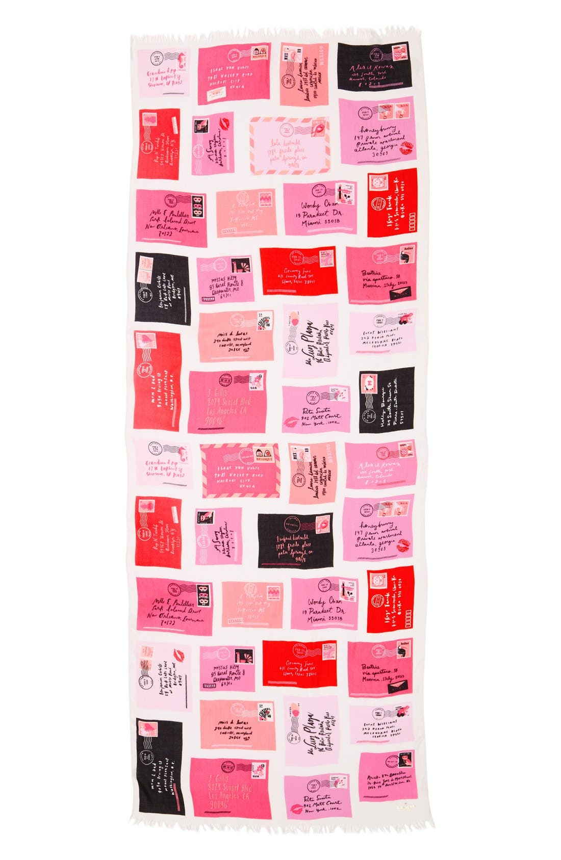 Alternate Image 2  - kate spade new york 'love letters' oblong scarf
