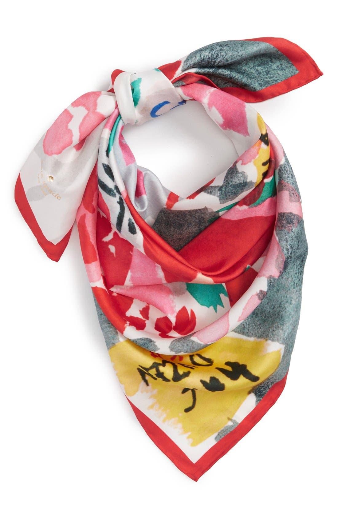 Alternate Image 1 Selected - kate spade new york 'bella' silk square scarf