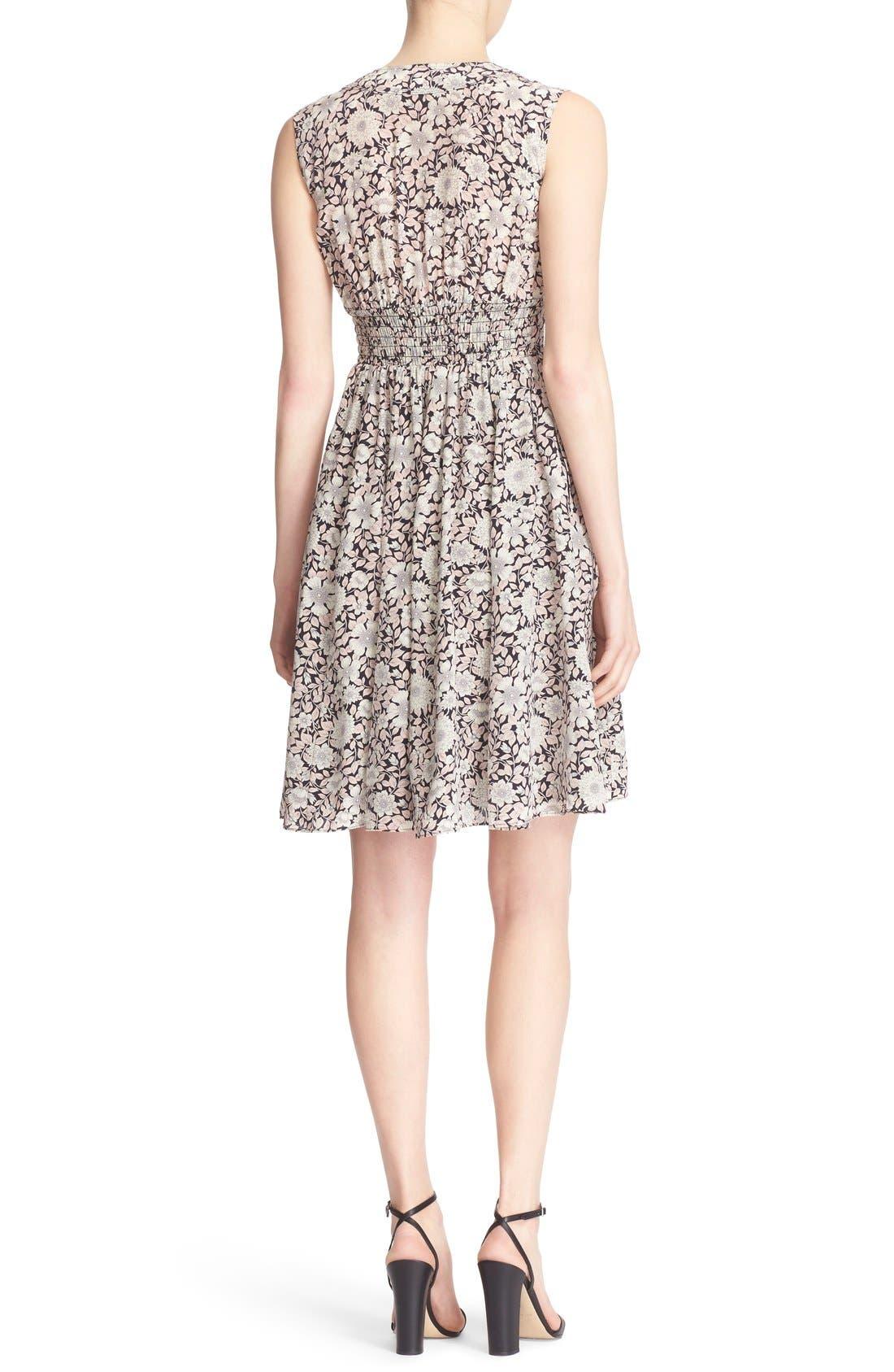 Alternate Image 2  - Rebecca Taylor 'Lindsay' Floral Print Sleeveless Silk Fit & Flare Dress
