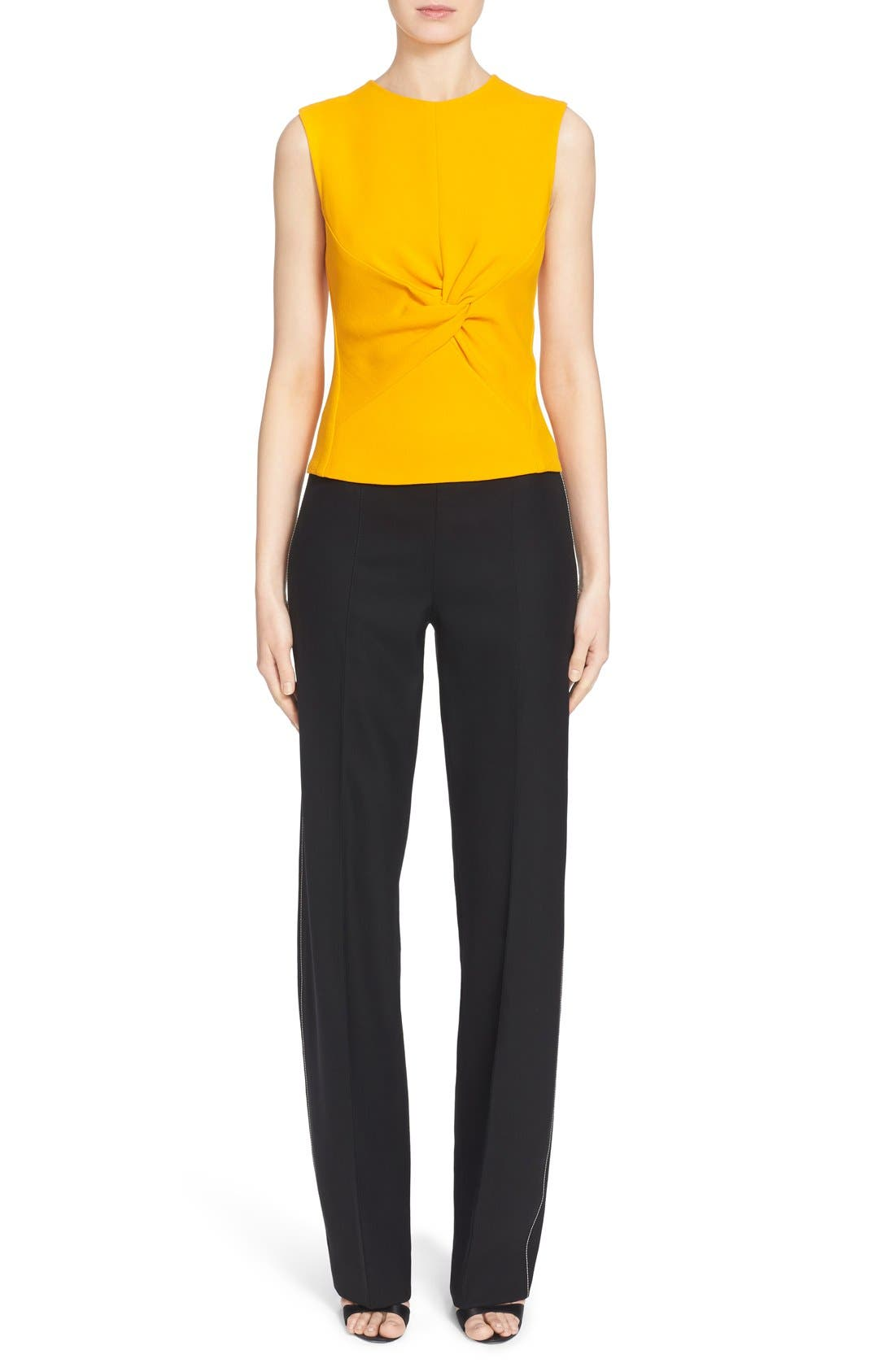 Alternate Image 7  - Narciso Rodriguez Twist Front Crepe Top