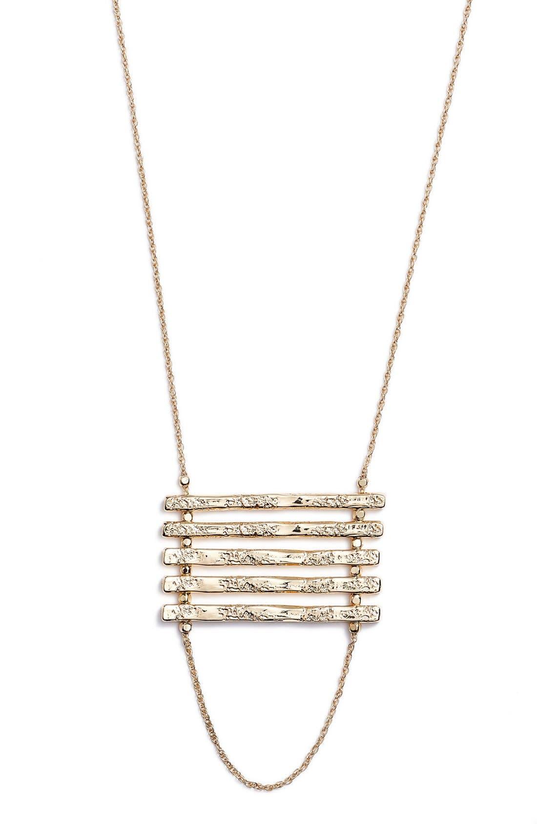 Alternate Image 1 Selected - Nordstrom Bar Pendant Necklace