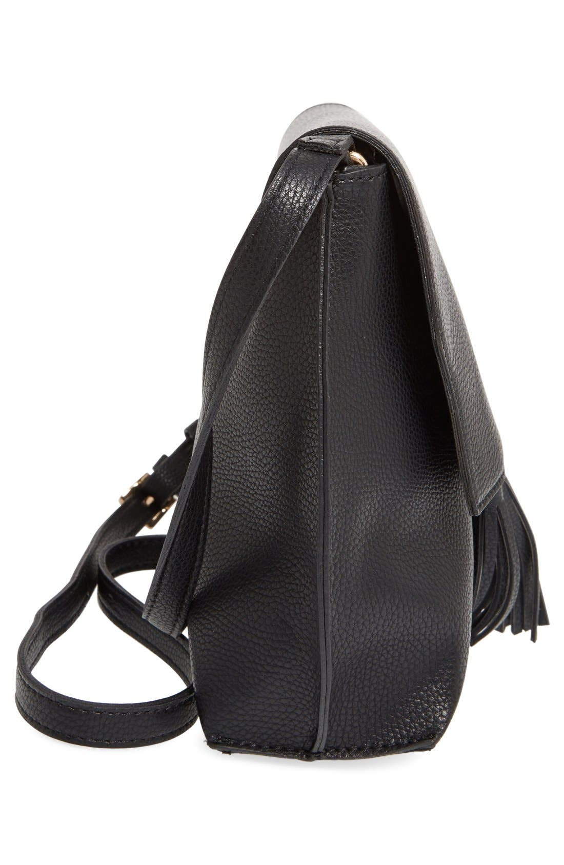 Alternate Image 5  - Sole Society Tassel Faux Leather Crossbody Bag