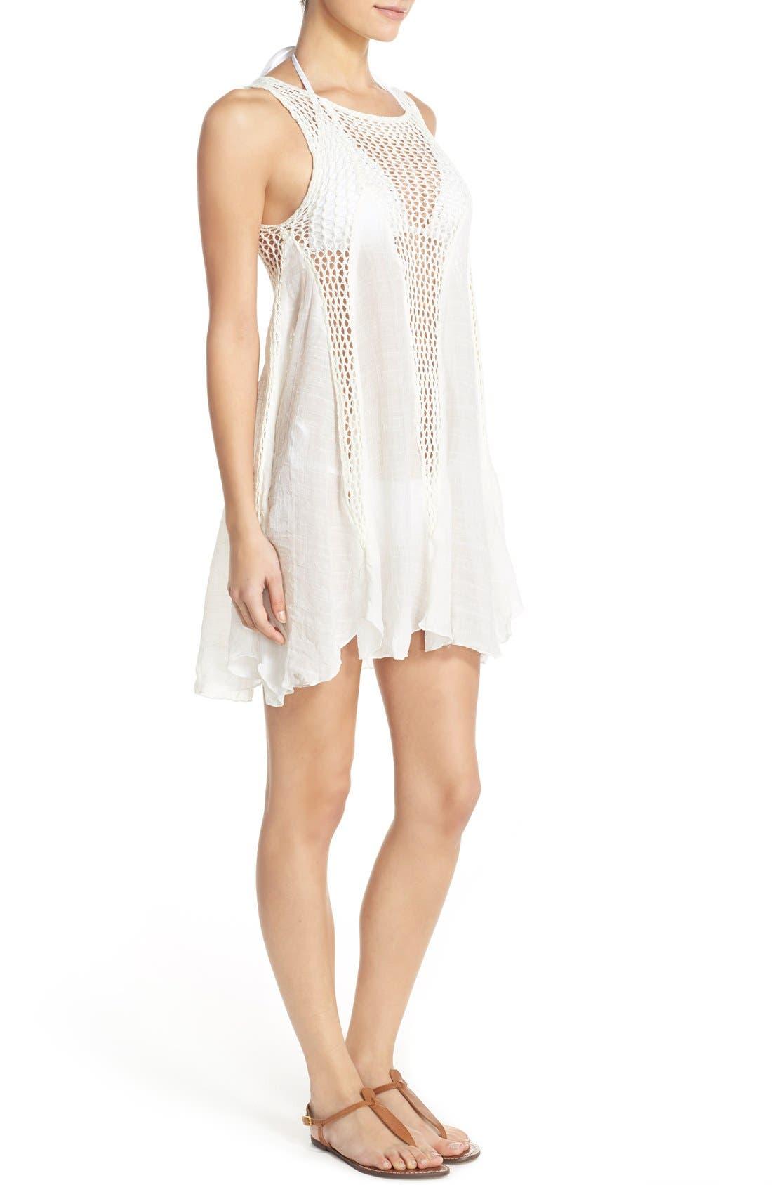 Alternate Image 3  - Elan Crochet Inset Cover-Up Dress