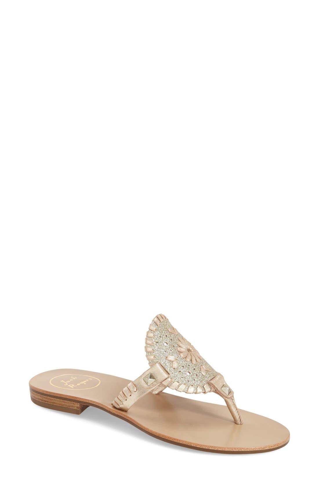 'Georgica' Sandal,                         Main,                         color, Platinum