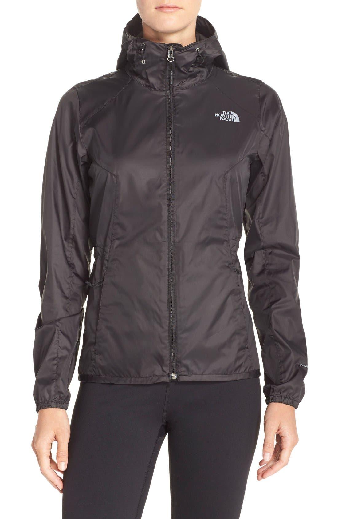 'Flyweight' Hooded Jacket,                         Main,                         color, Tnf Black