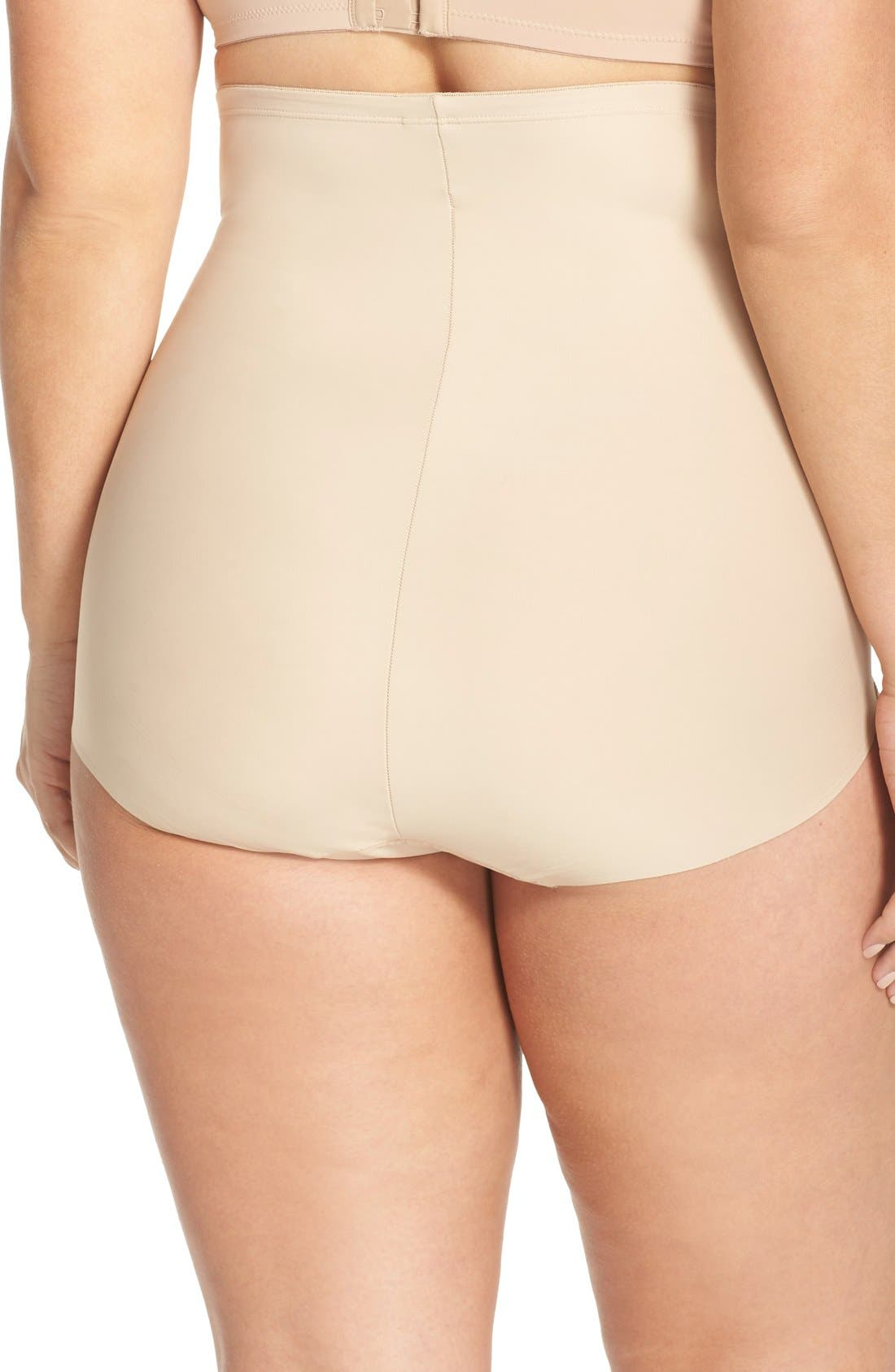 Alternate Image 2  - TC High Waist Shaping Briefs (Plus Size) (Online Only)