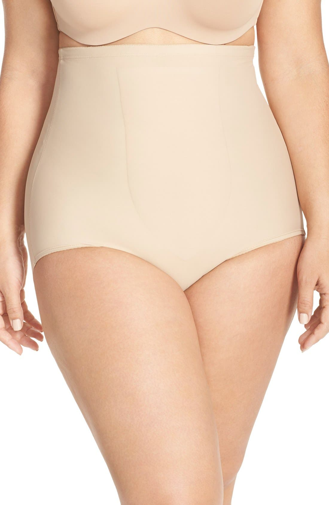 Alternate Image 1 Selected - TC High Waist Shaping Briefs (Plus Size) (Online Only)
