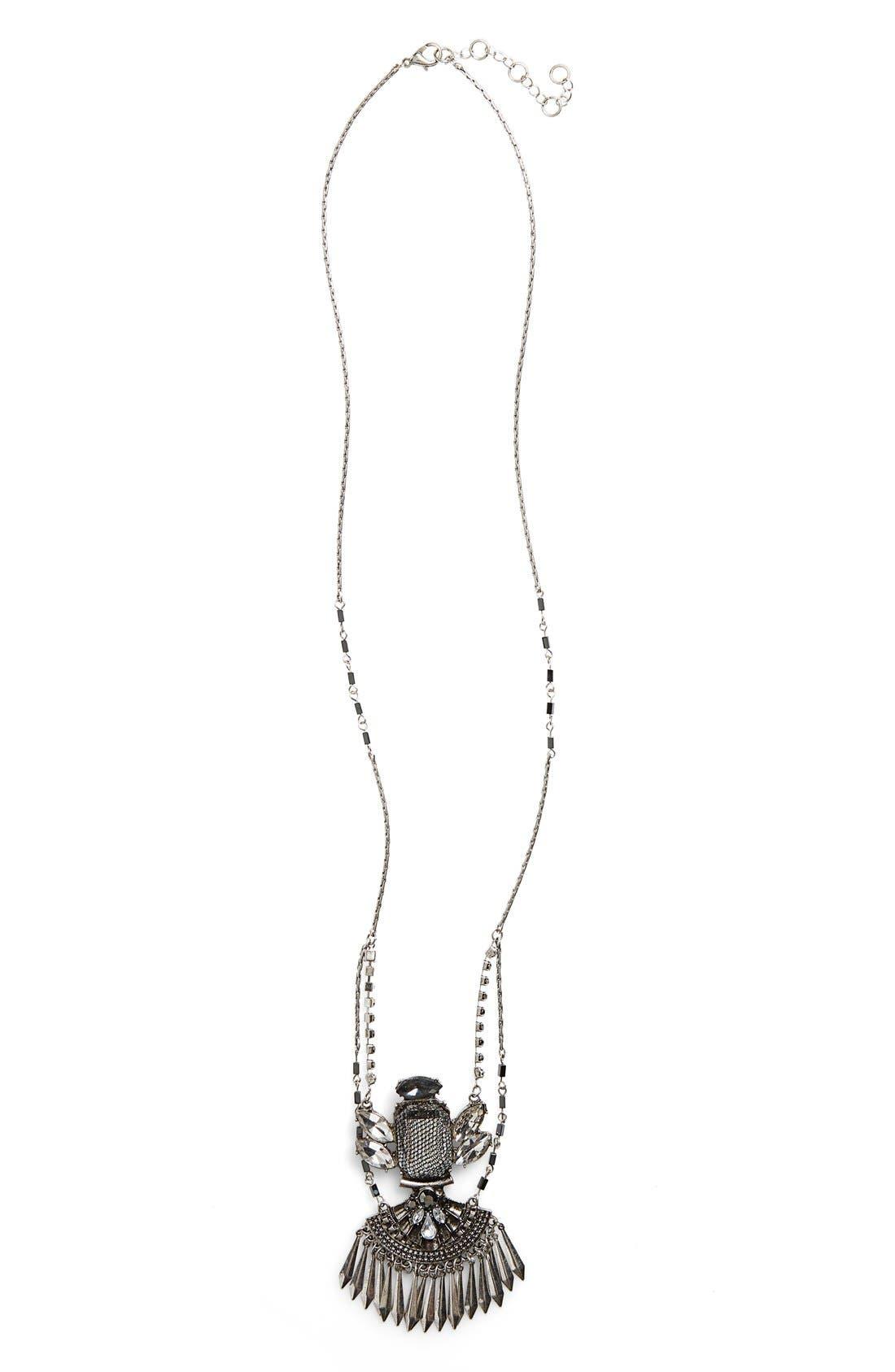Main Image - Leith Vintage Stone Pendant Necklace