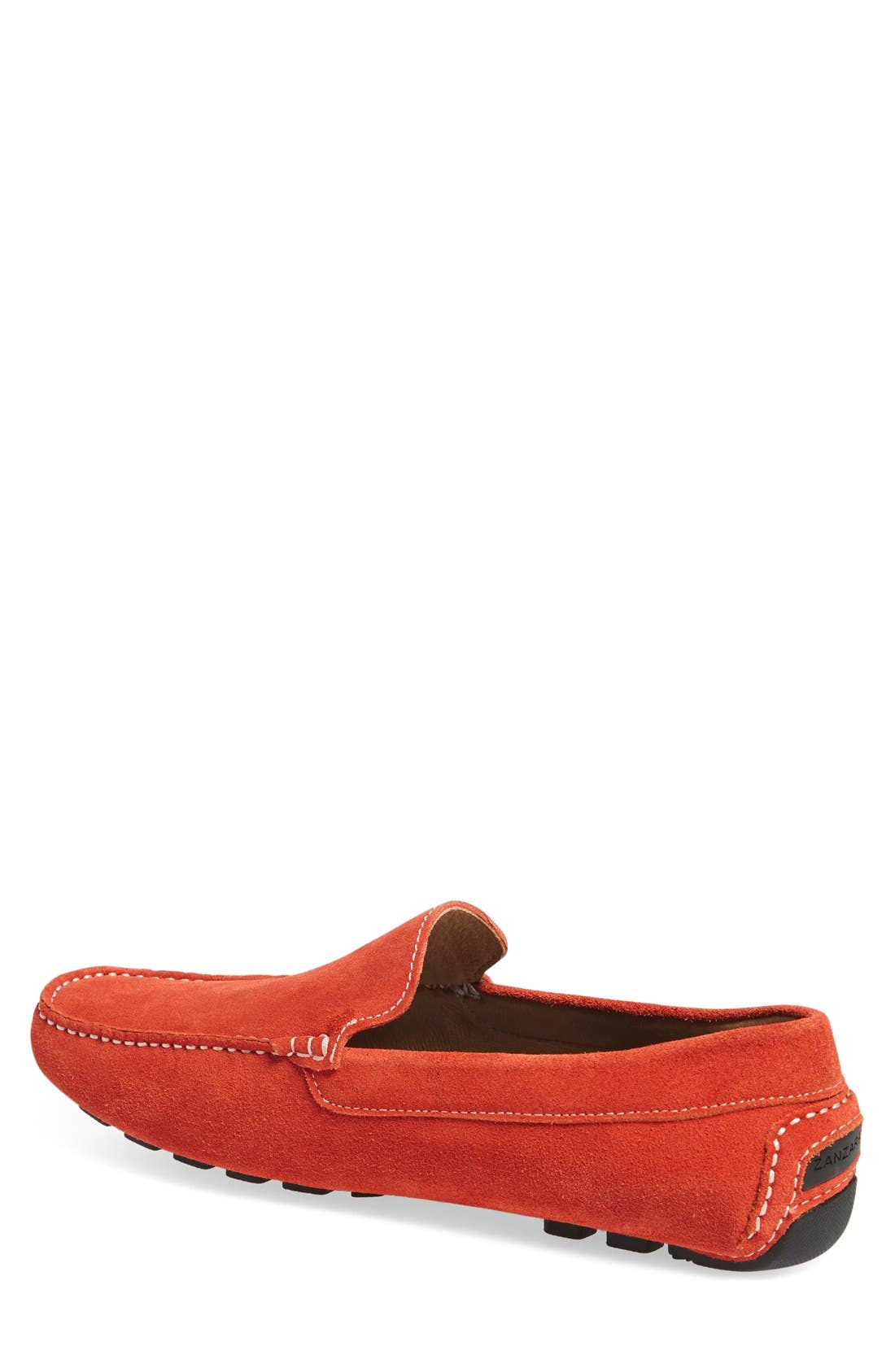 'Picasso' Slip-On Driver,                             Alternate thumbnail 2, color,                             Orange Leather