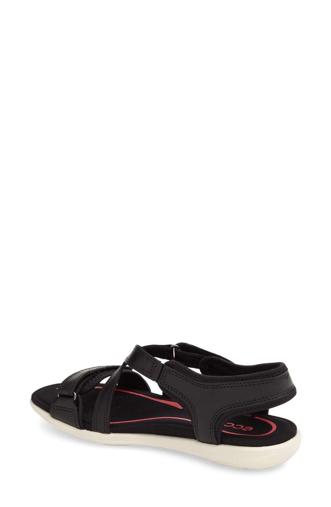 'Bluma' Sport Sandal,                             Alternate thumbnail 2, color,                             Black Leather