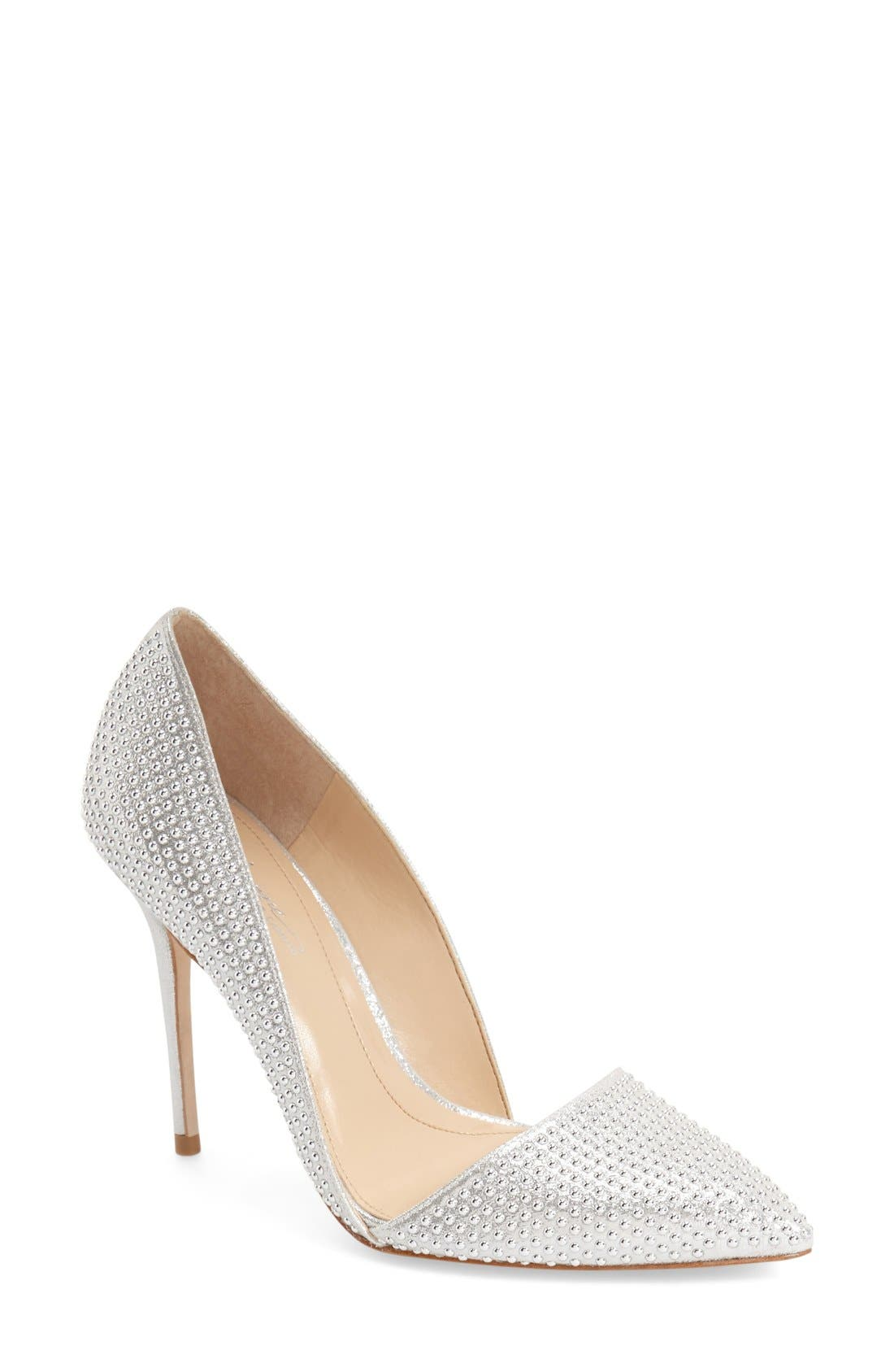 Imagine Vince Camuto 'Ossie' d'Orsay Pump,                             Main thumbnail 1, color,                             Platinum Shimmer
