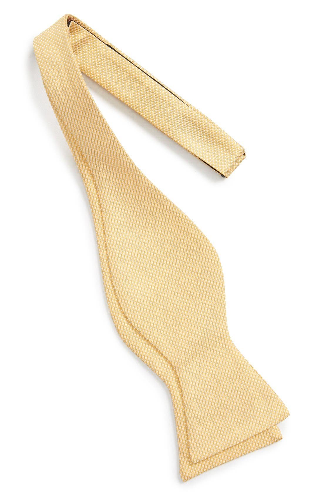 Dot Silk Bow Tie,                             Alternate thumbnail 3, color,                             Yellow