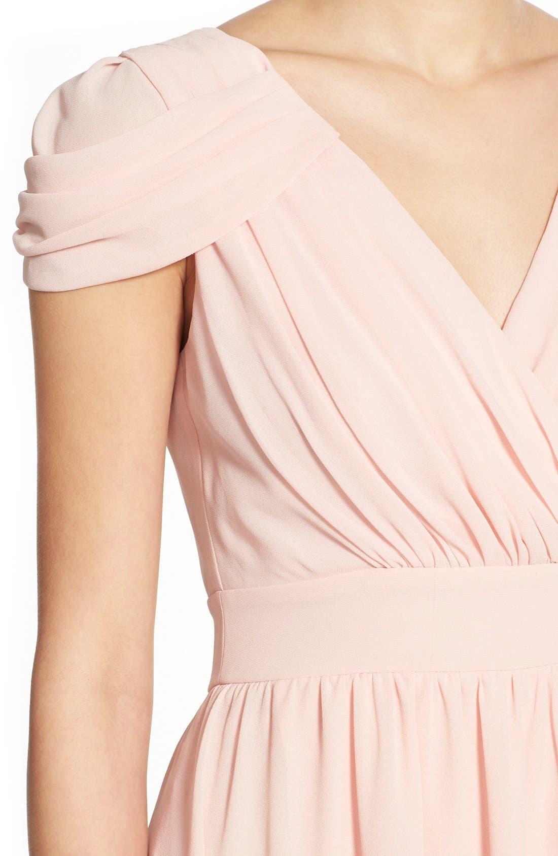 Alternate Image 4  - TFNC 'Hadie' High/Low Ruched Dress