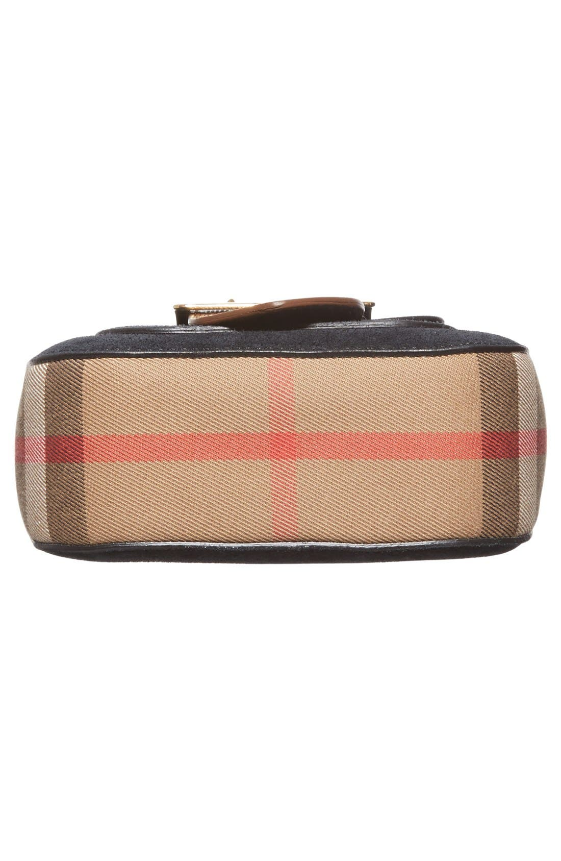Alternate Image 6  - Burberry Suede & Canvas Convertible Crossbody Bag