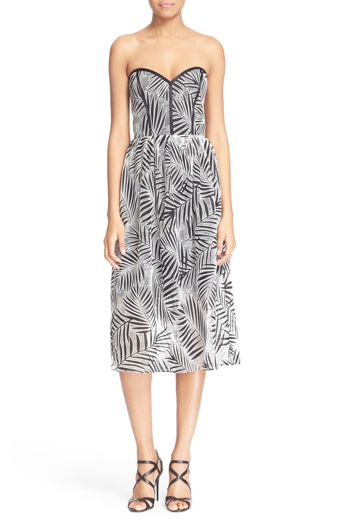 Main Image - Parker 'Azalea' Palm Lace Midi Length Dress