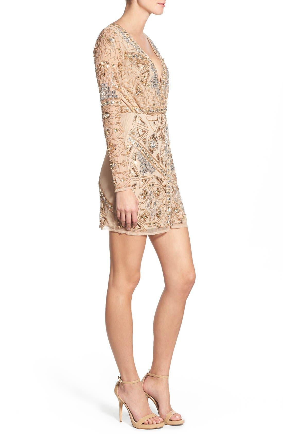 Alternate Image 3  - Missguided Embellished Plunge Wrap Dress