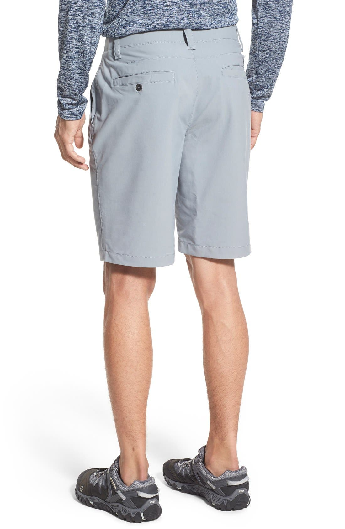 'Matchplay' Moisture Wicking Golf Shorts,                             Alternate thumbnail 2, color,                             Steel