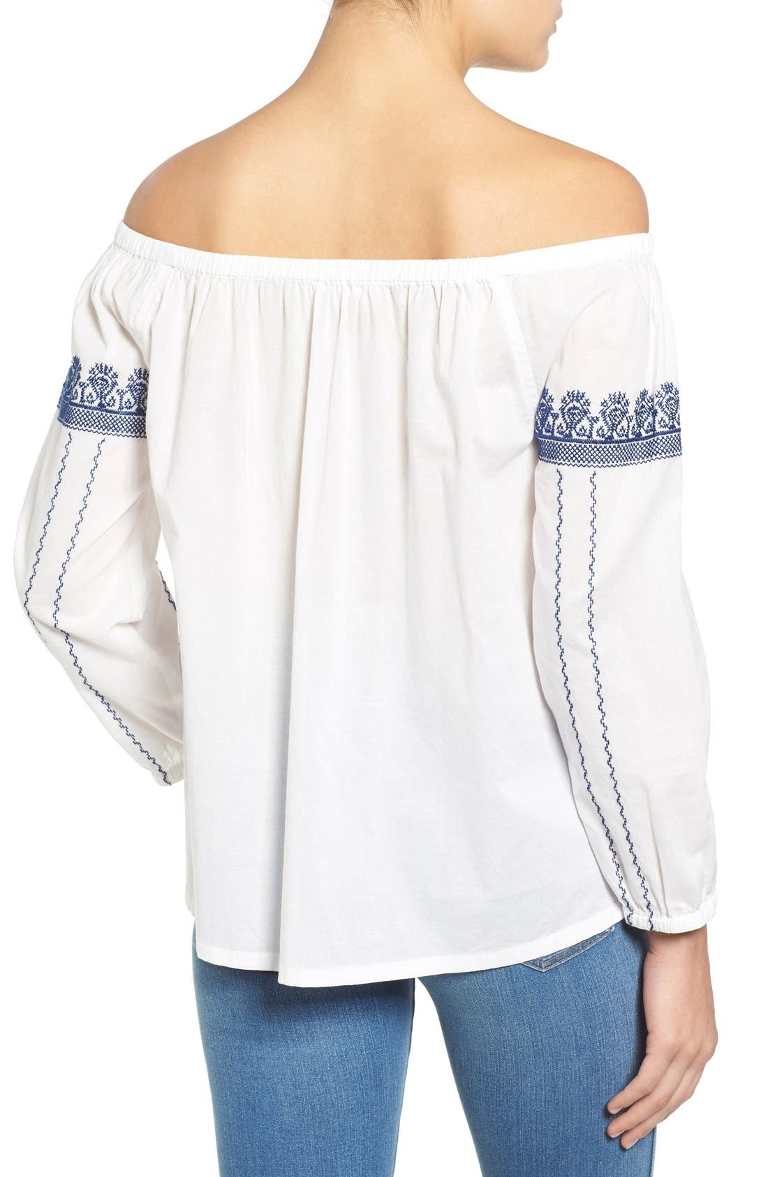 Alternate Image 2  - Madewell 'Folktale' Off the Shoulder Top