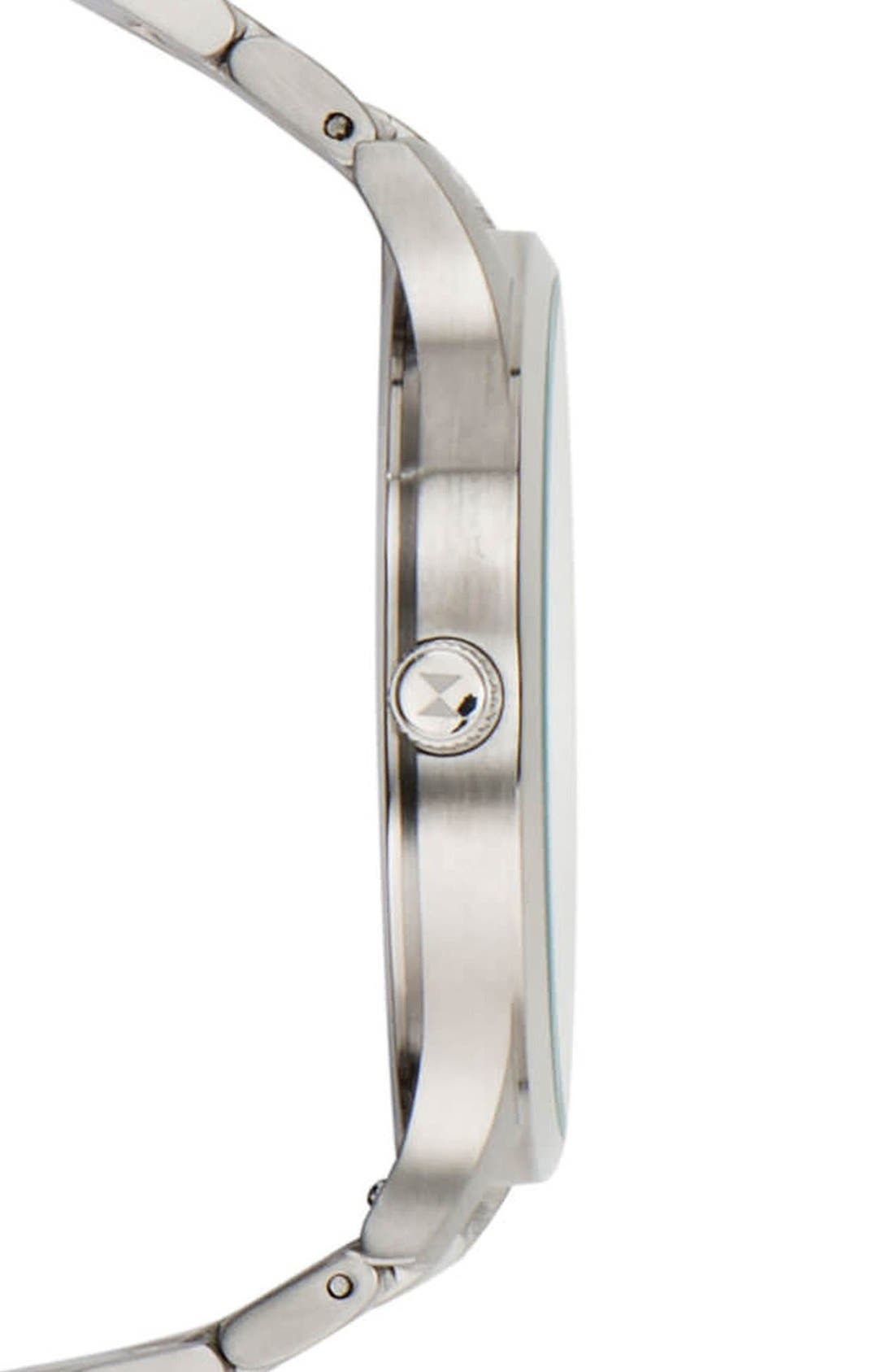 Bracelet Watch, 40mm,                             Alternate thumbnail 3, color,                             Silver/ Silver