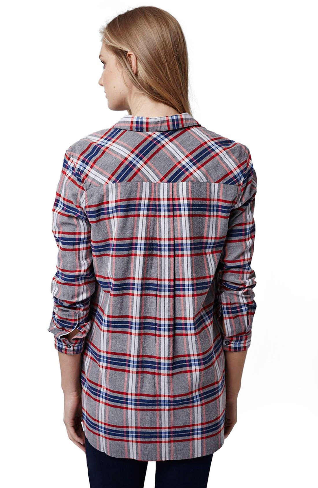 Alternate Image 3  - Topshop 'Boxing Day' Check Plaid Maternity Shirt