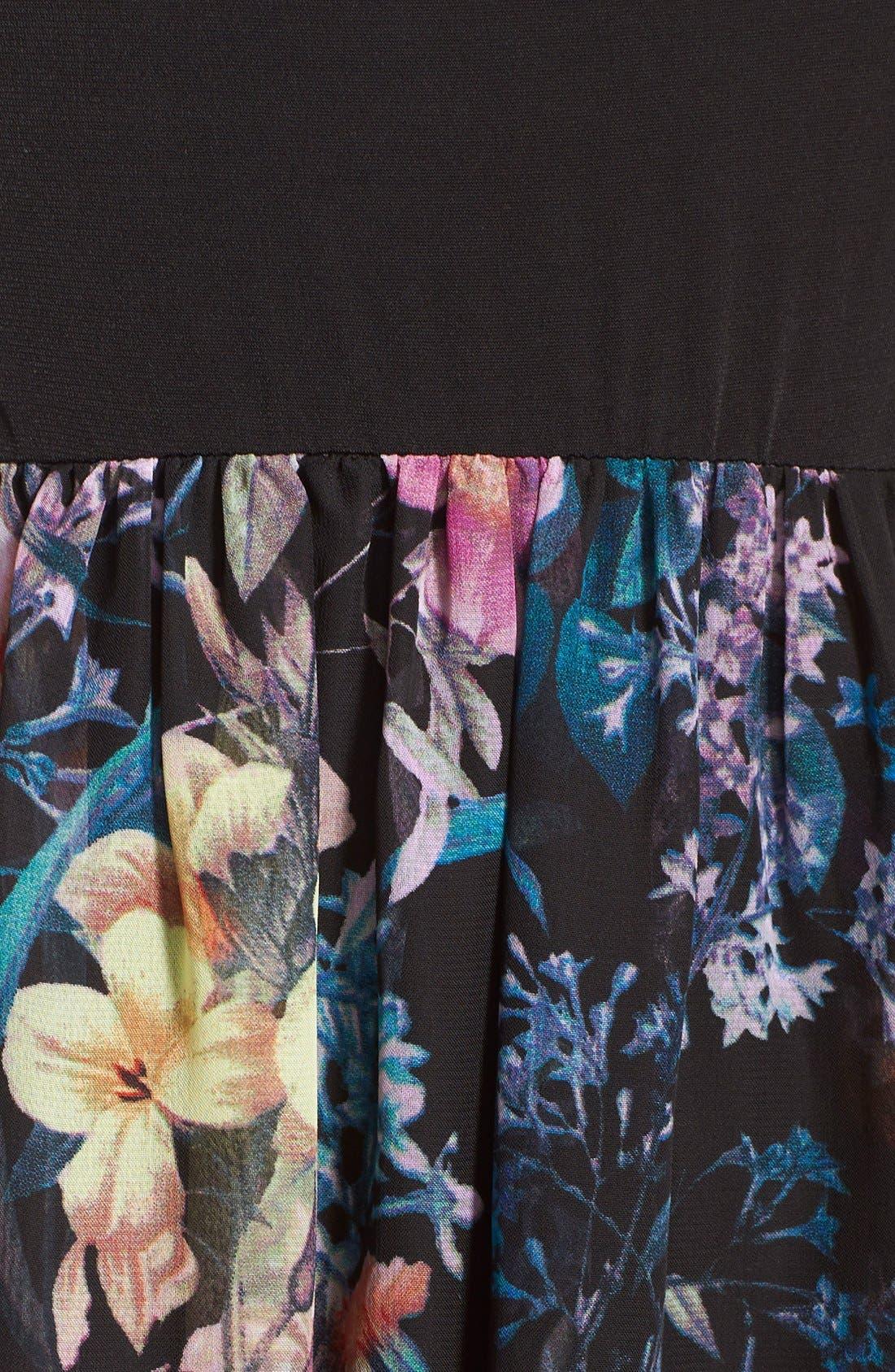 Alternate Image 5  - ECI Jersey & Chiffon Maxi Dress