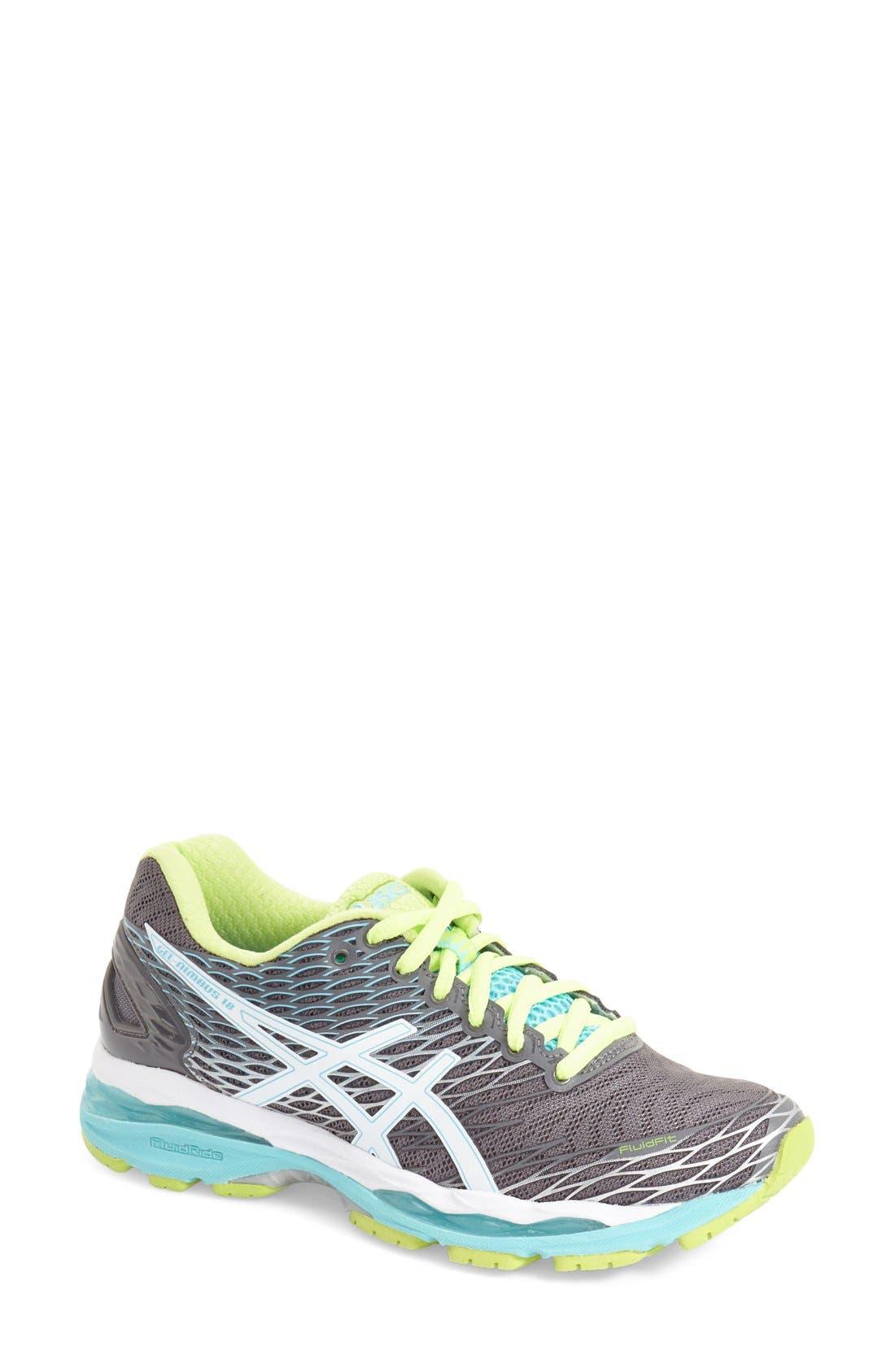 Alternate Image 1 Selected - ASICS® 'GEL-Nimbus 18' Running Shoe (Women)