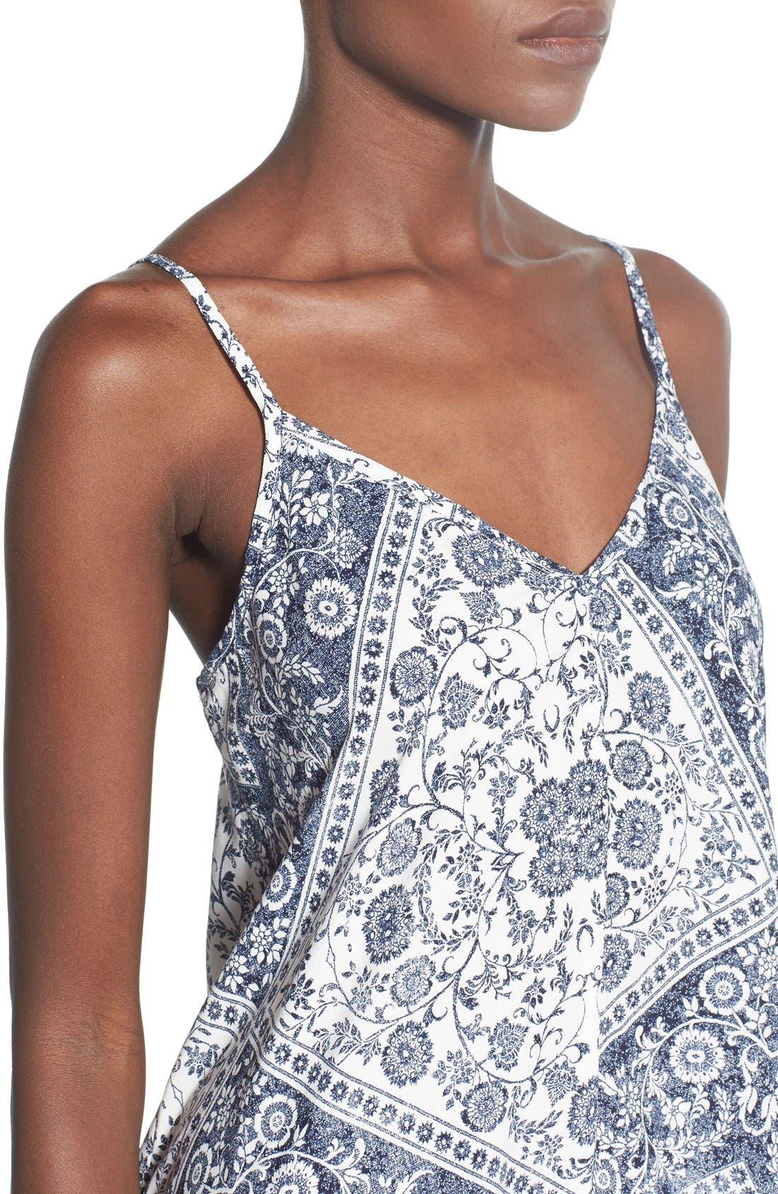 Alternate Image 4  - Trixxi Bandana Print Handkerchief Hem Dress