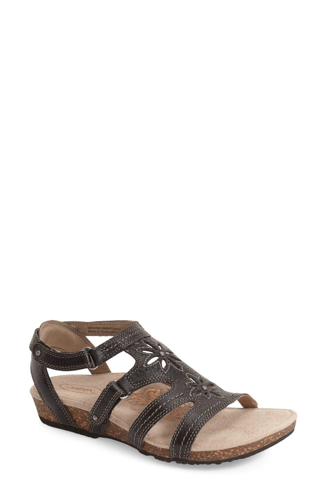 Alternate Image 1 Selected - Aetrex 'Natasha' Gladiator Sandal (Women)