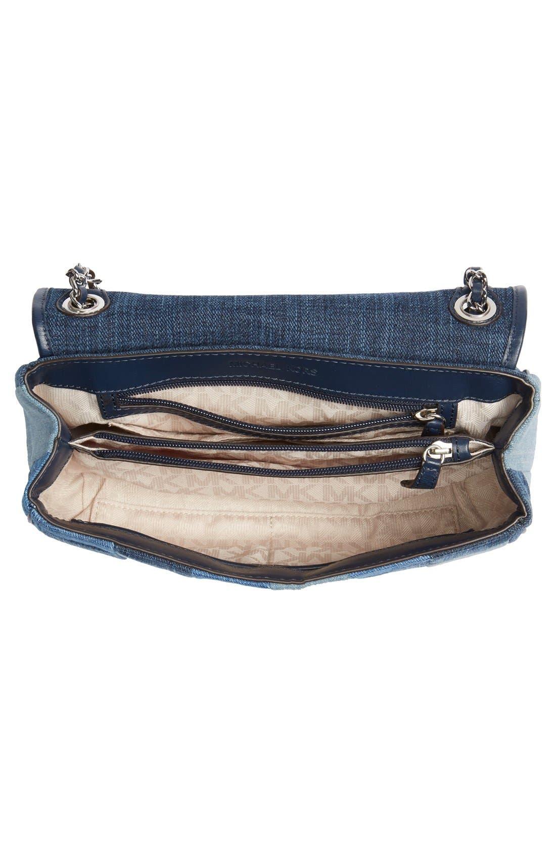 Alternate Image 4  - MICHAEL Michael Kors 'Large Sloan' Patchwork Denim Shoulder Bag