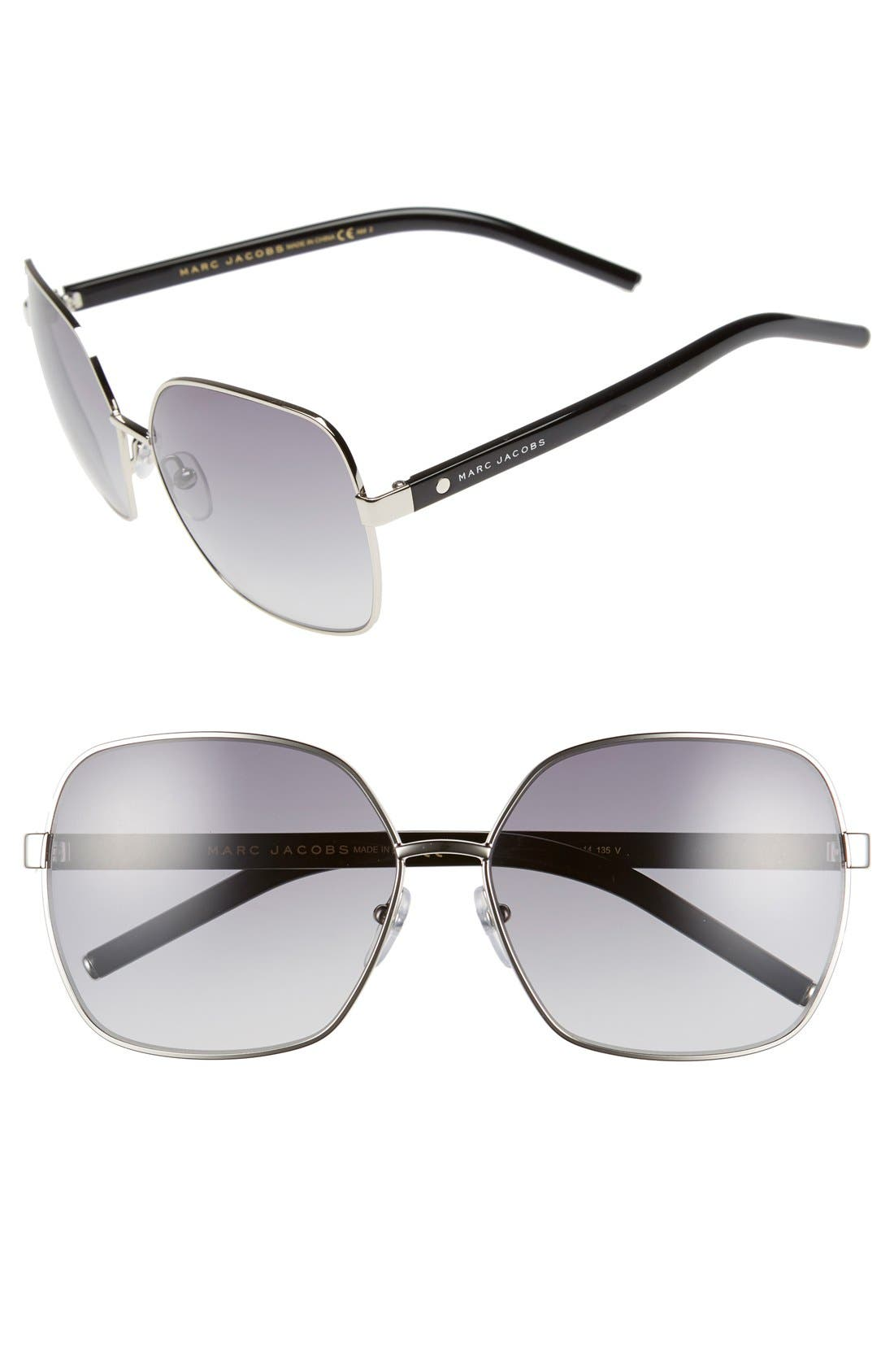 Main Image - MARC JACOBS 61mm Oversized Sunglasses
