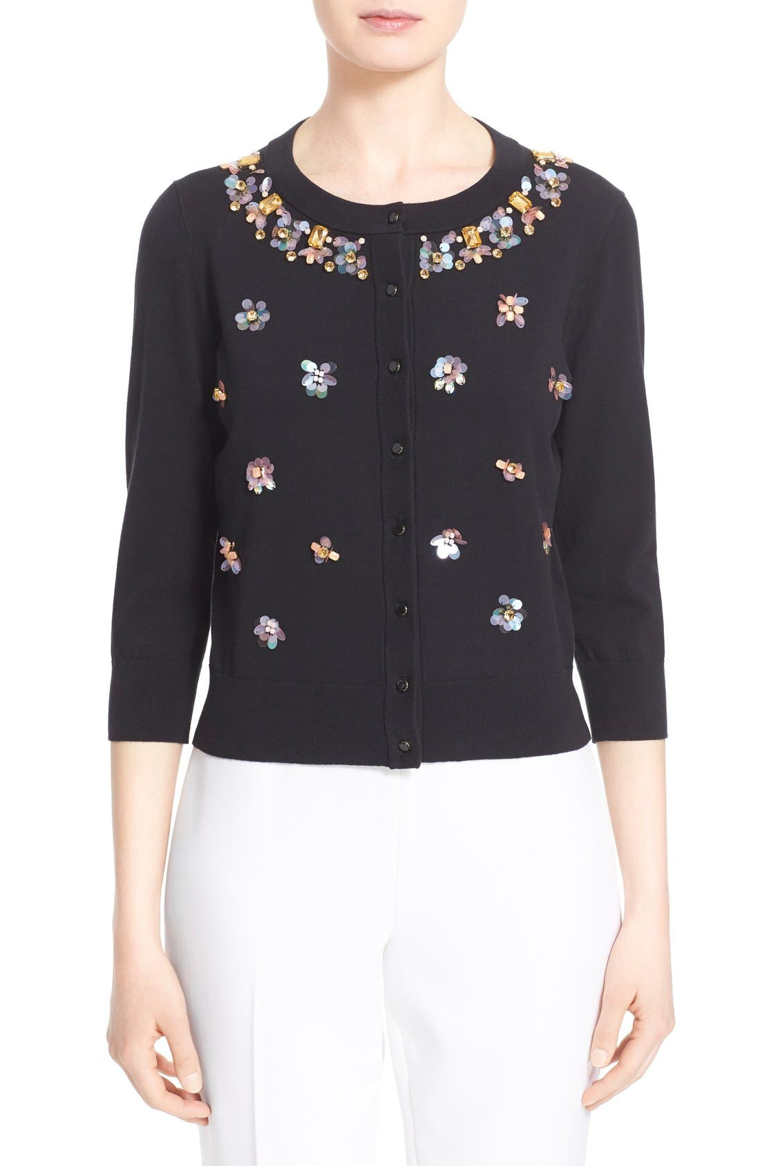 Alternate Image 1 Selected - kate spade new york embellished cardigan